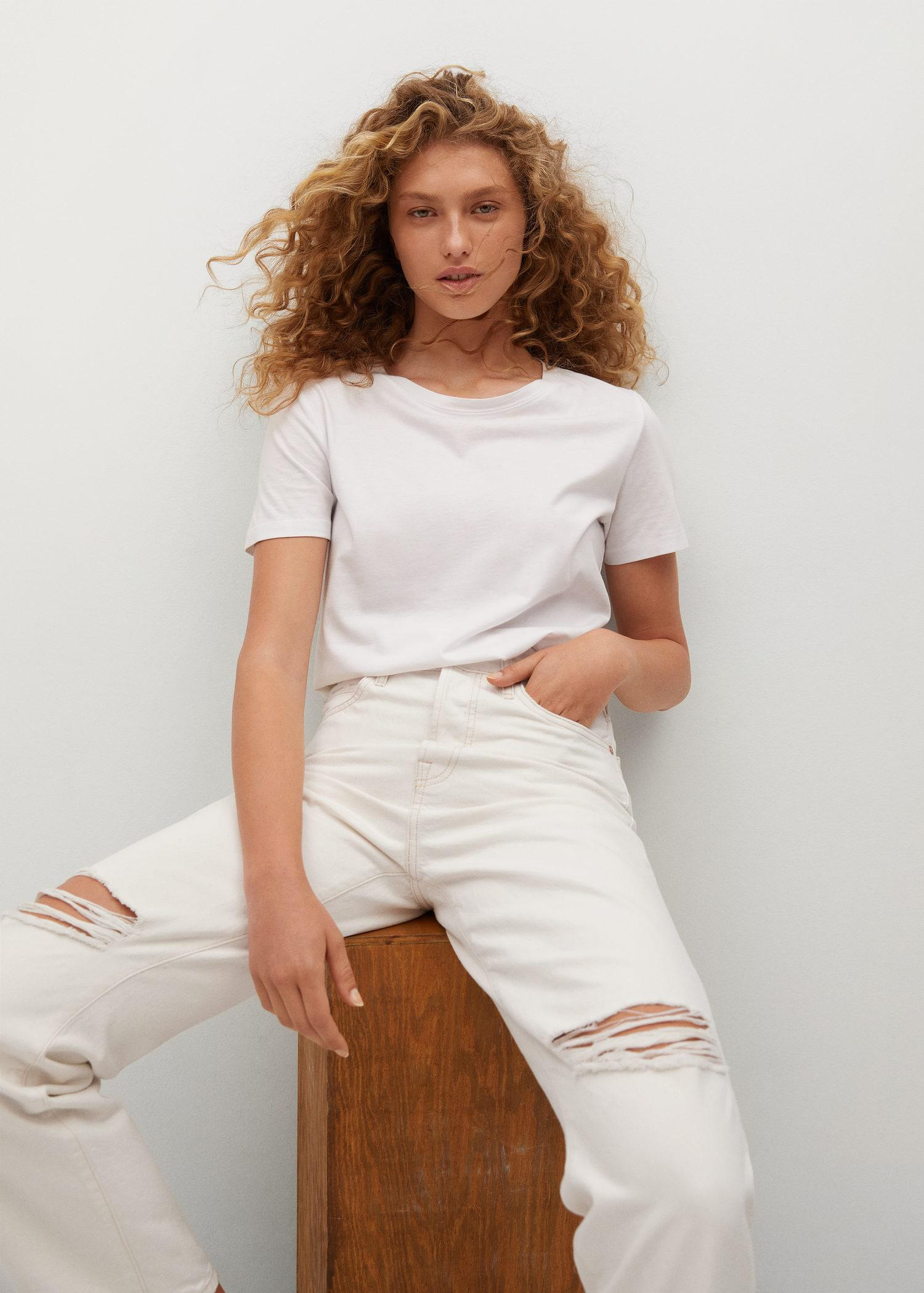 Decorative rips relaxed jeans 4