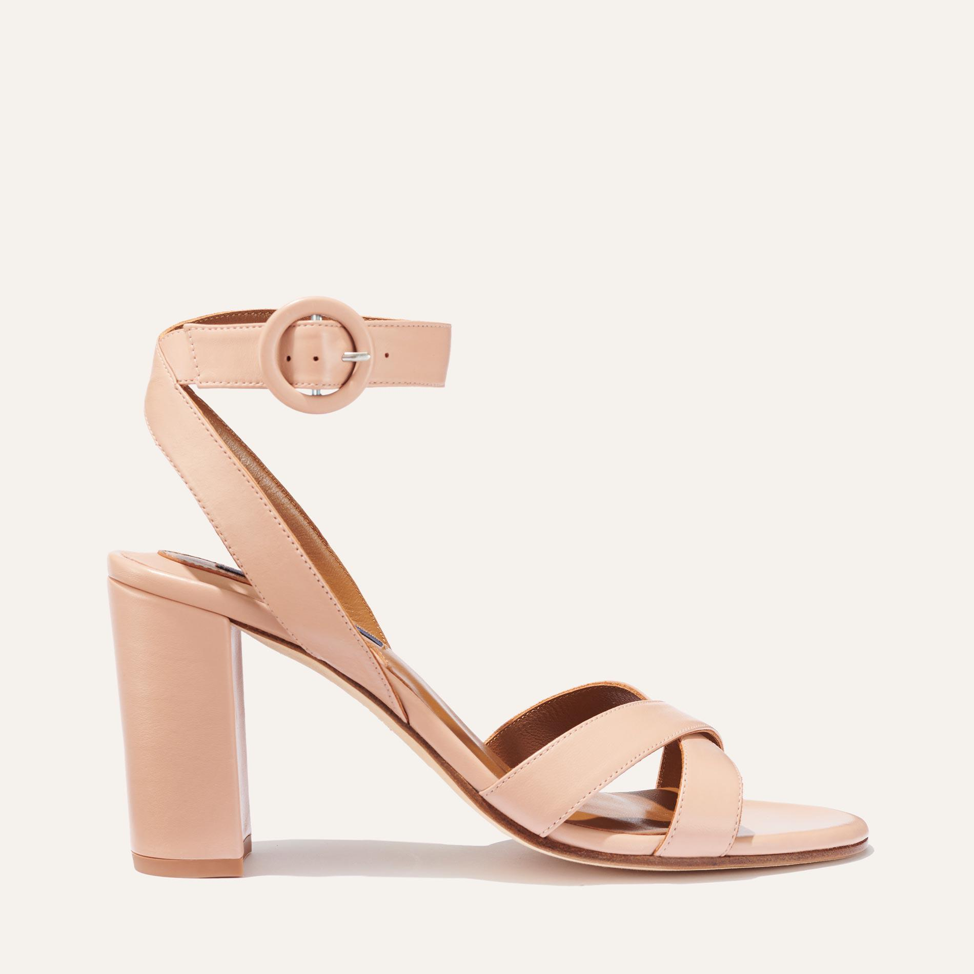 The Uptown Sandal - Rose Nappa