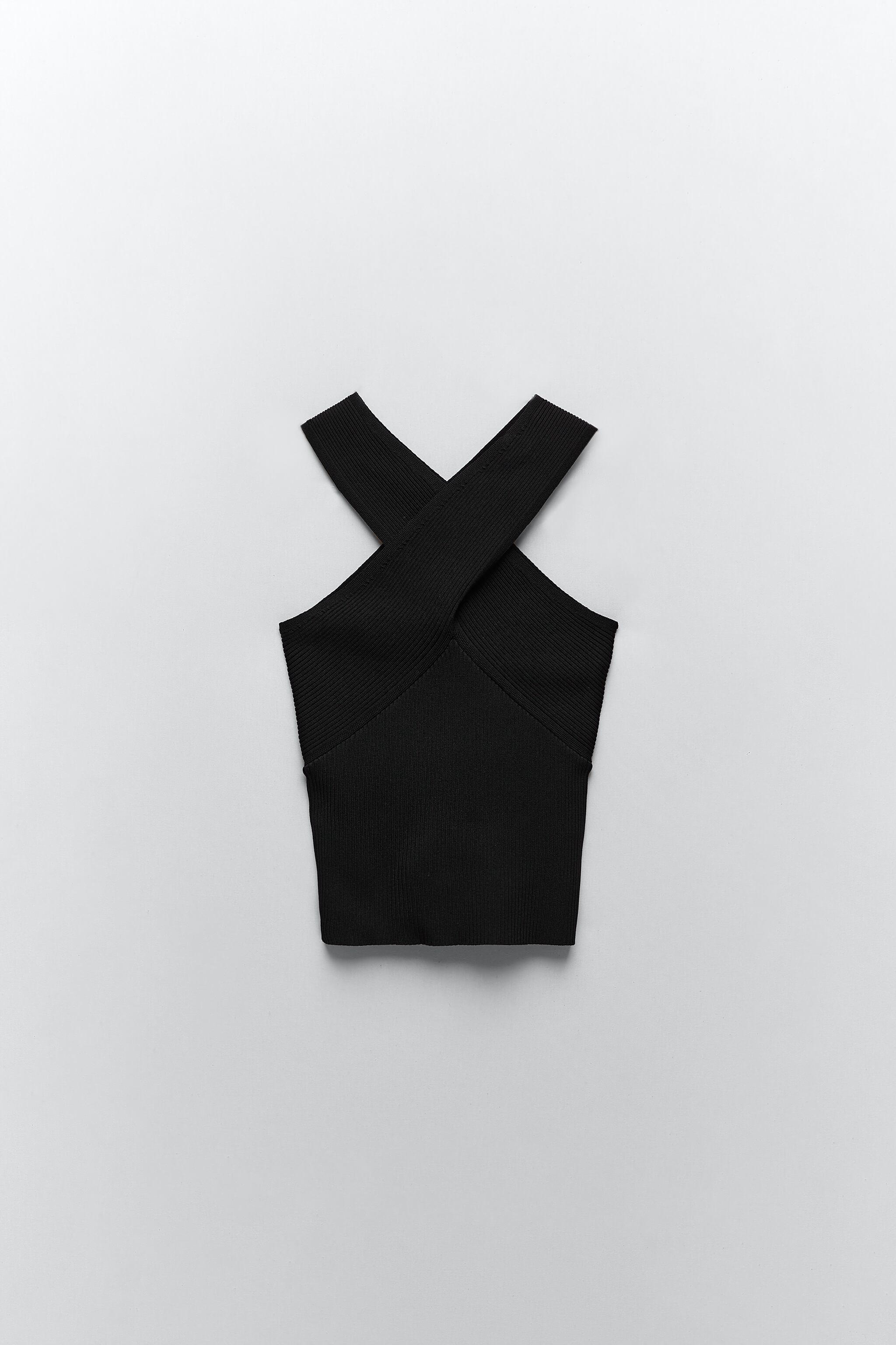 KNIT TOP WITH CROSSED STRAPS 7