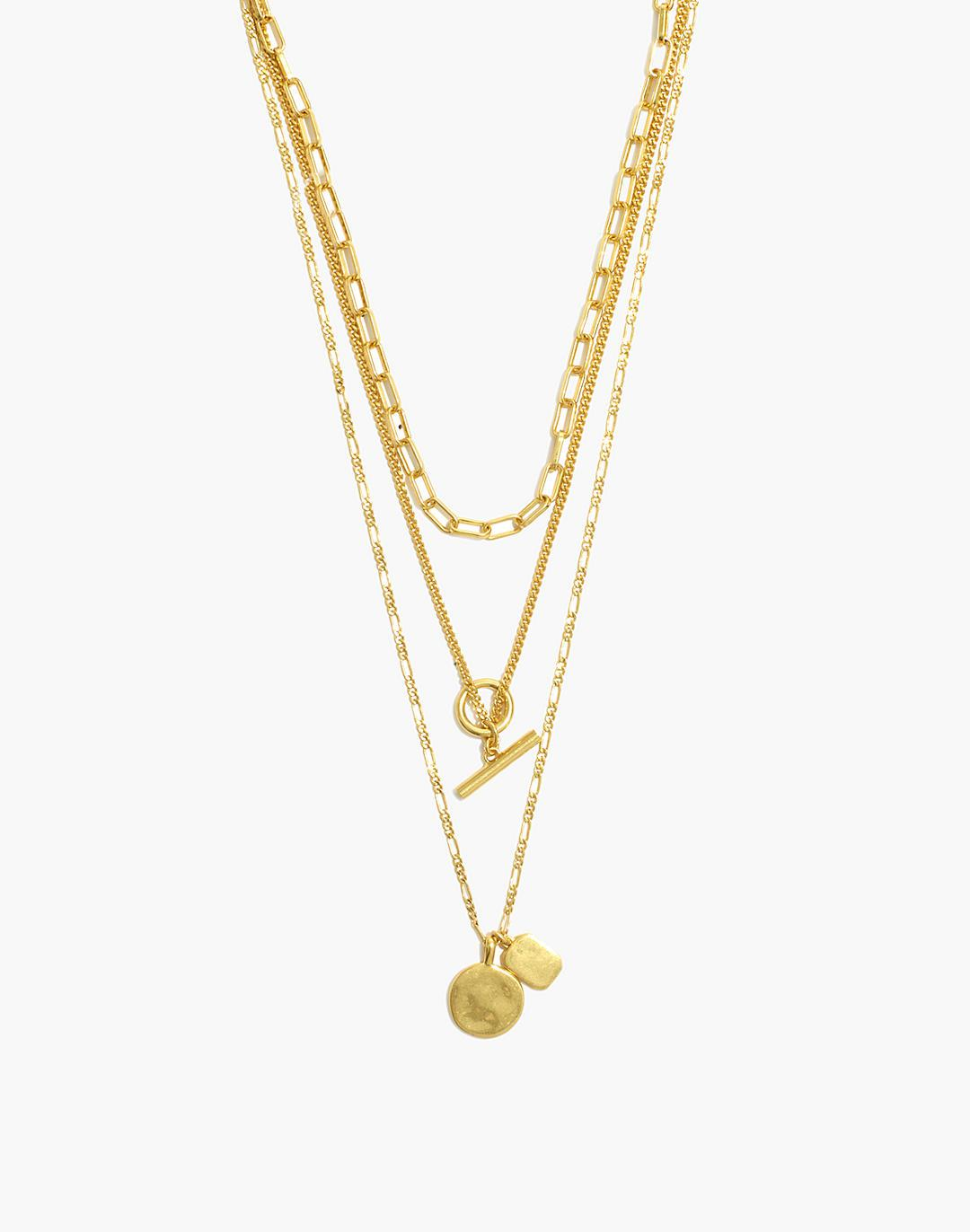 Toggle Chain Necklace Set