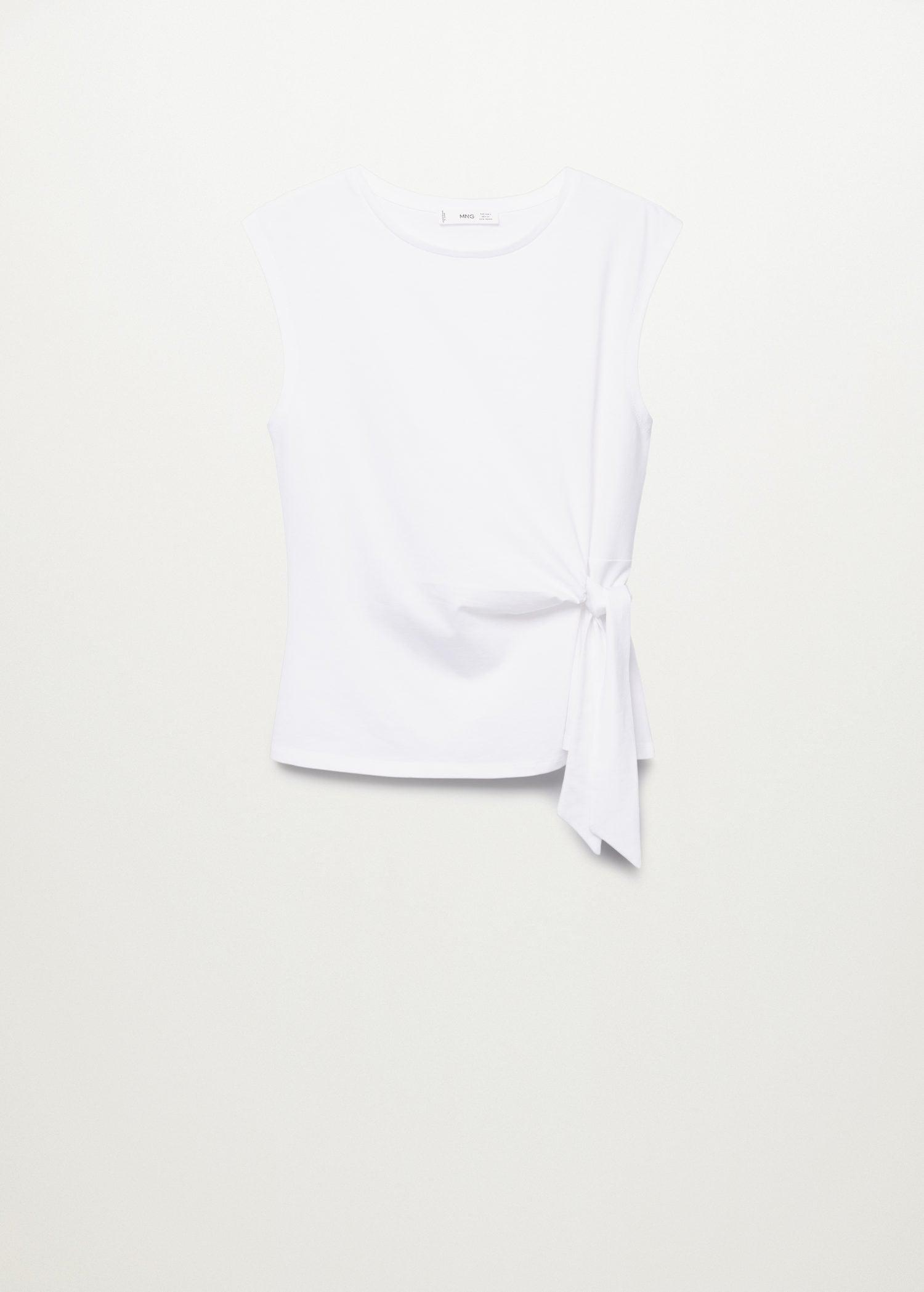 Recycled cotton t-shirt with knot 7