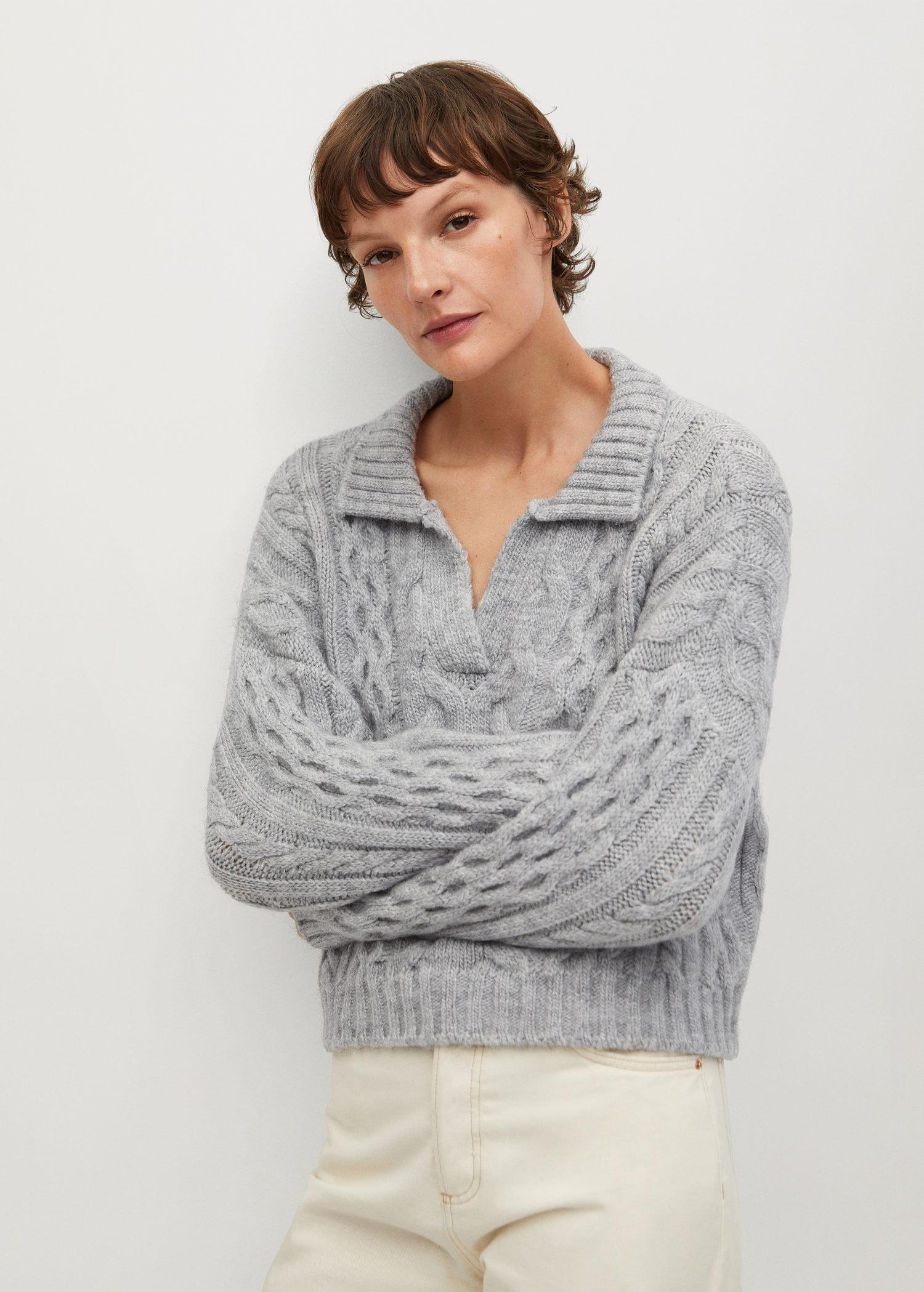 Polo style sweater