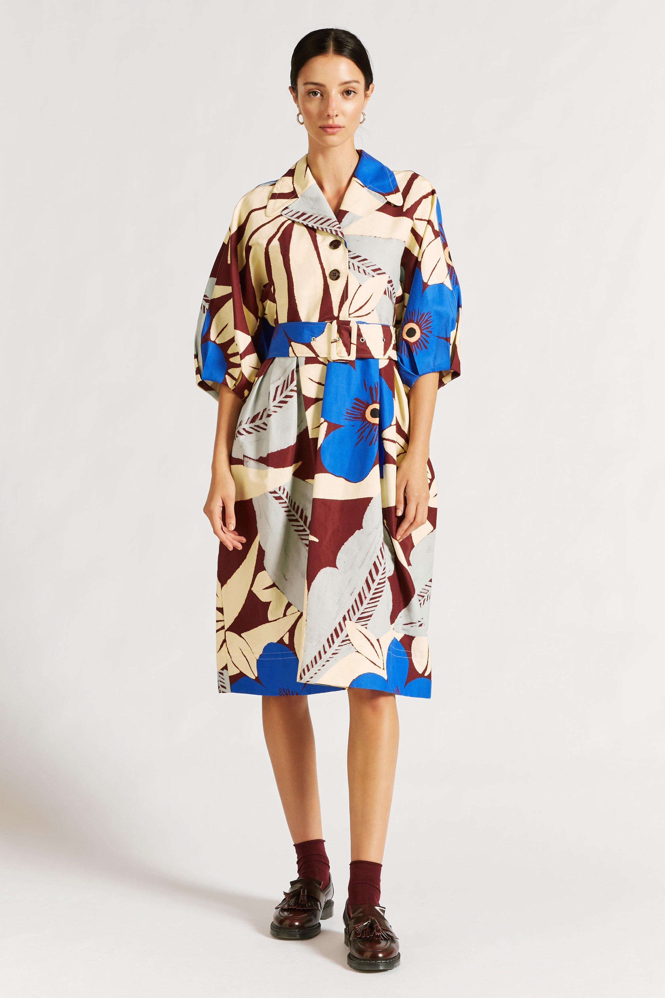 Astrid Floral Cocoon Shirtdress