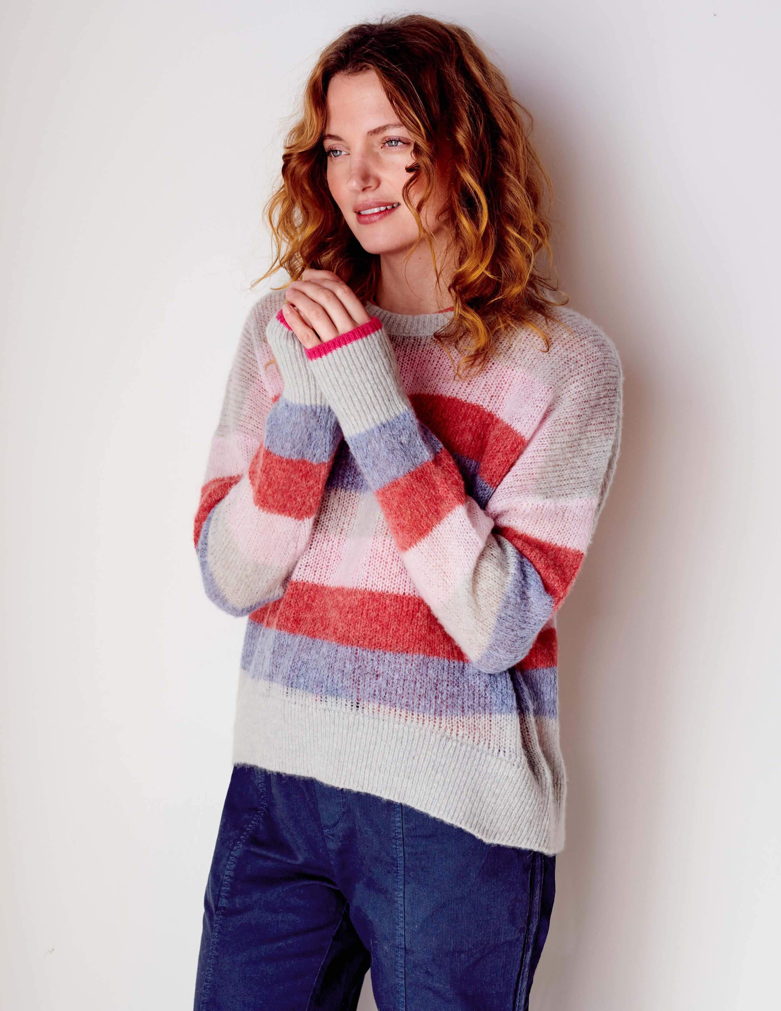 Thick Stripes Oversized Sweater