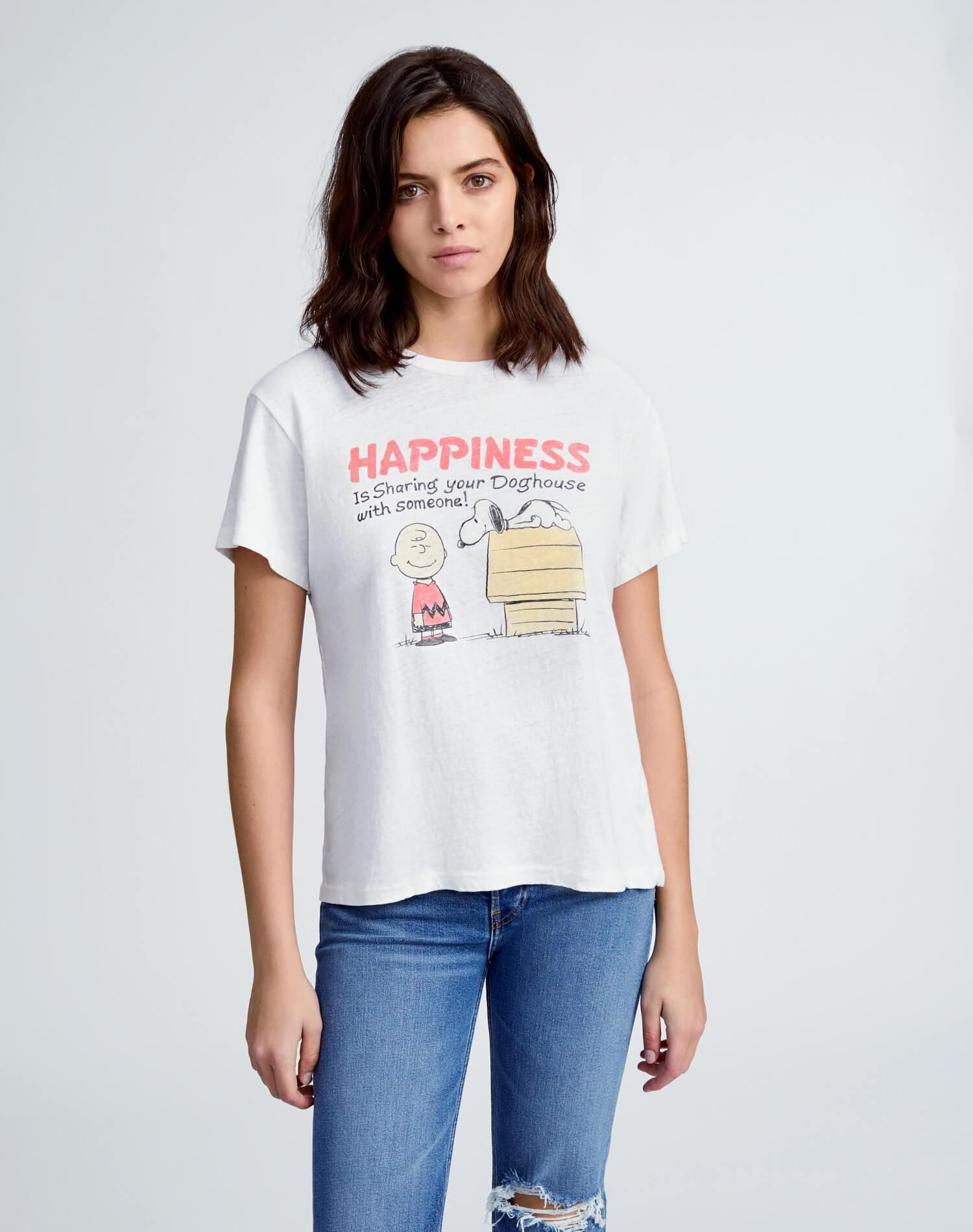 """70s Loose """"Sharing with Someone"""" Tee - Vintage White"""