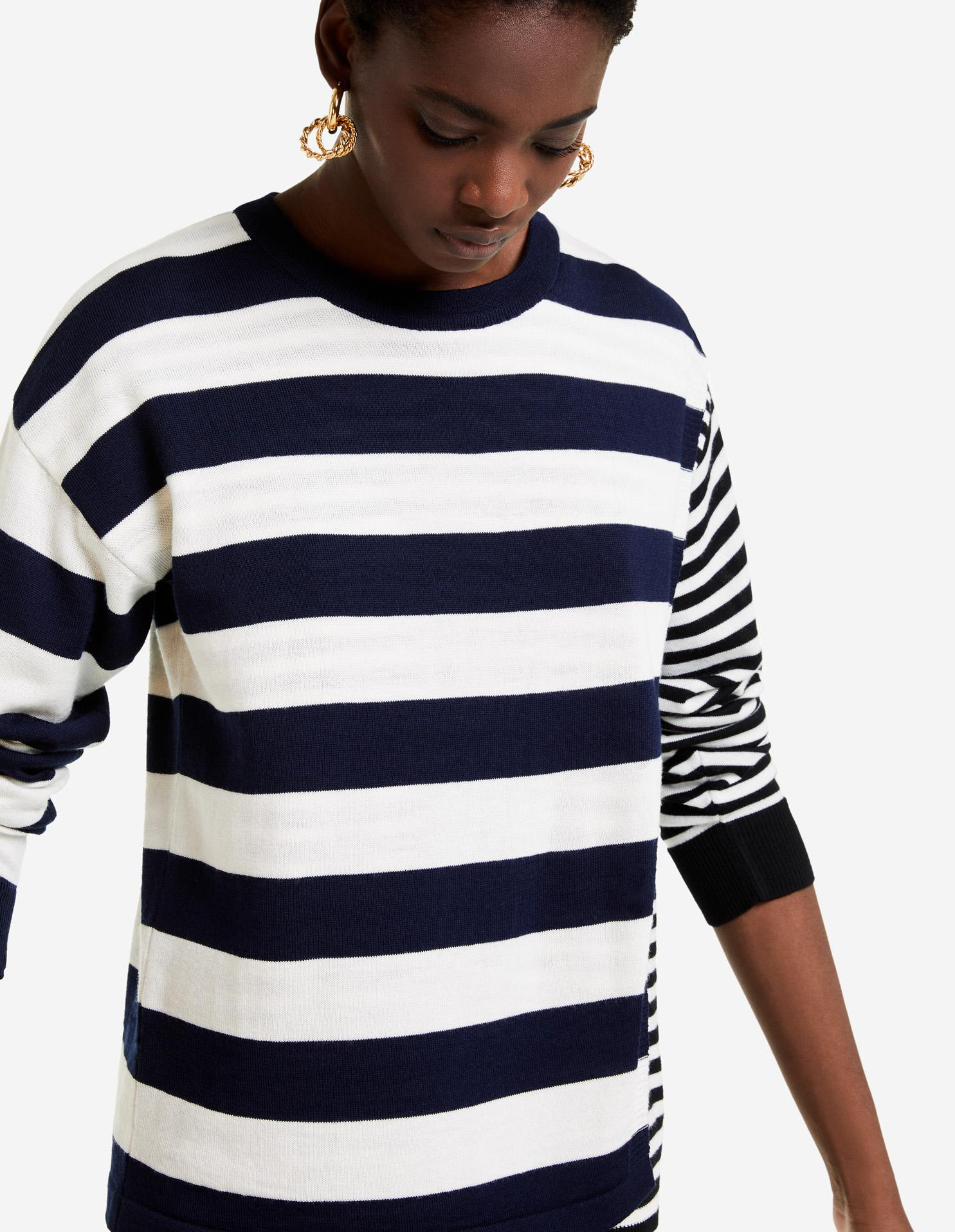 DOUBLE LAYERED CREW NECK JUMPER 1