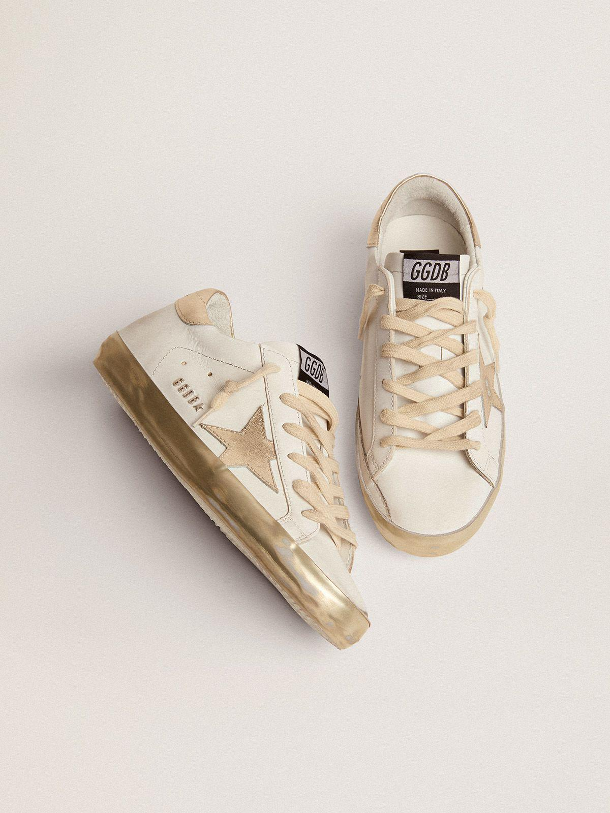 Super-Star sneakers with gold sparkle foxing and metal stud lettering 3