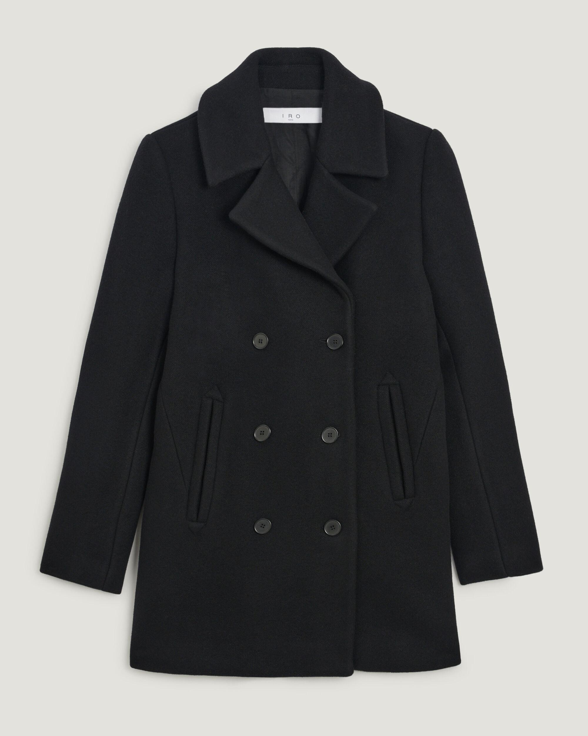 ERSO DOUBLE BREASTED WOOL PEACOAT