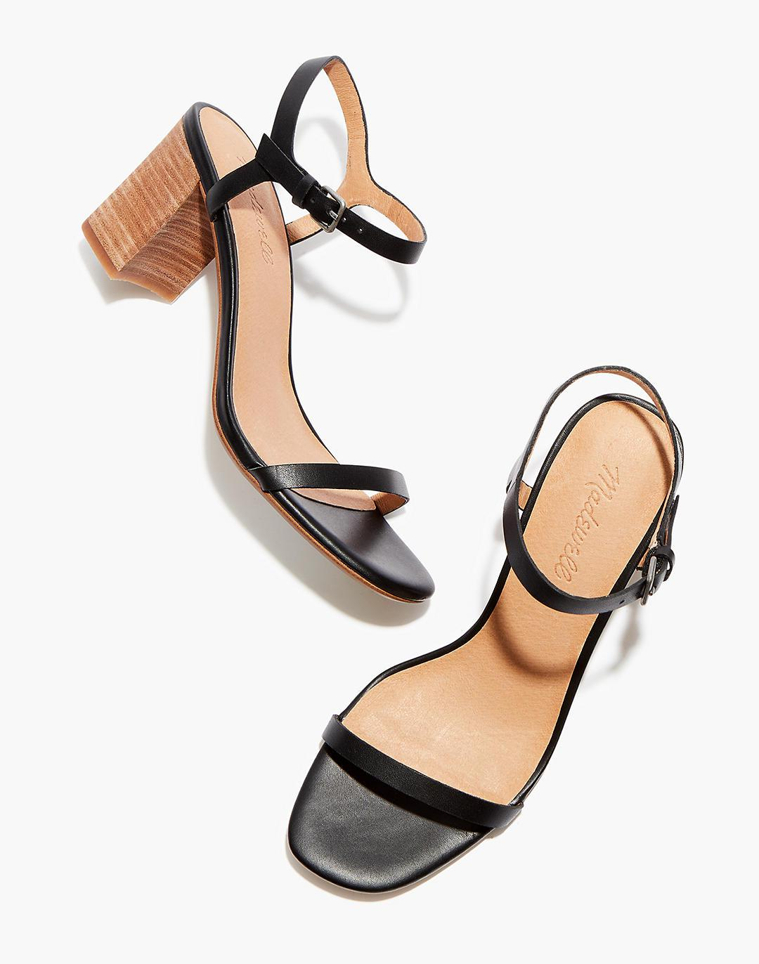The Holly Ankle-Strap Sandal in Leather