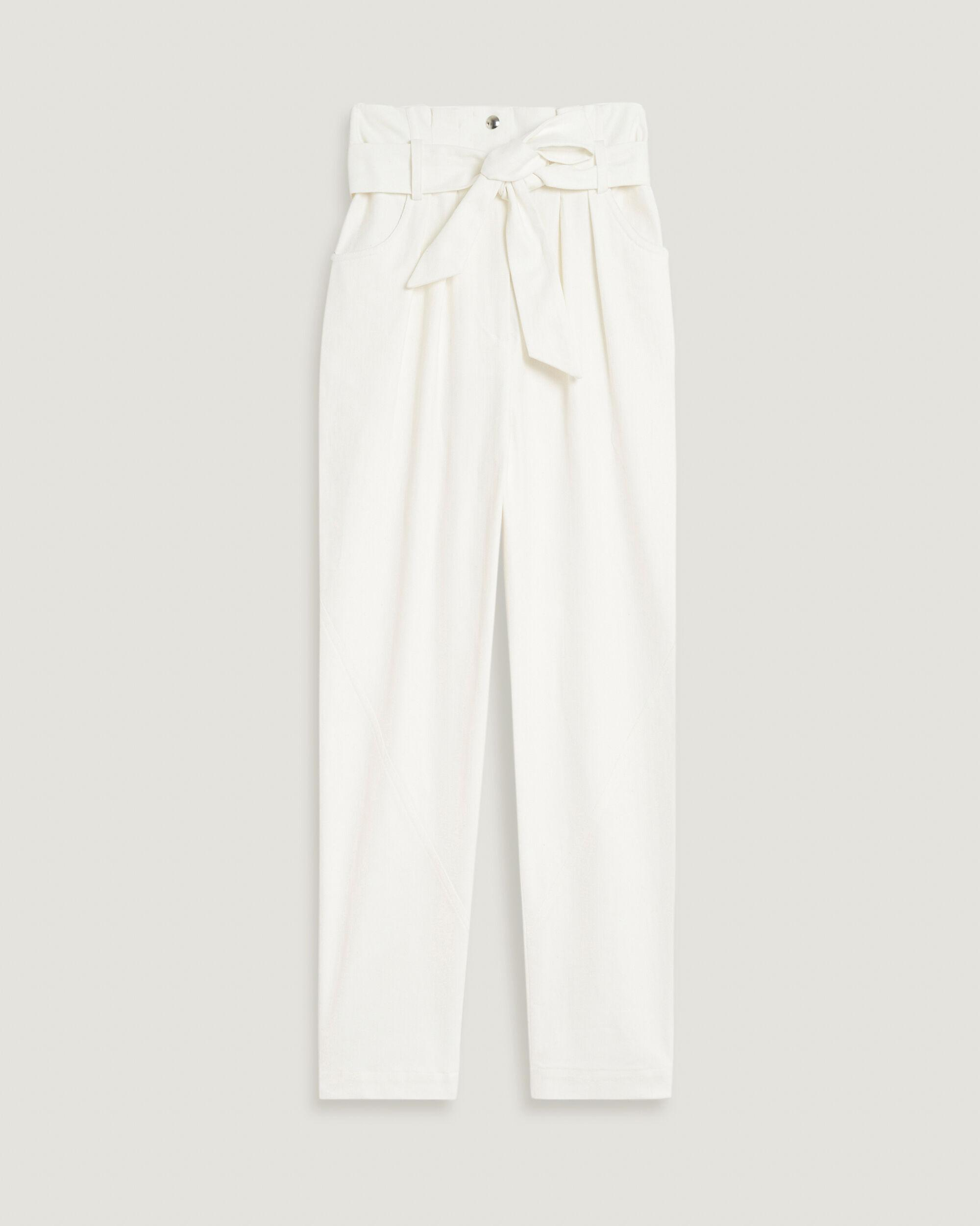 GARETTI CROPPED PAPERBAG TROUSERS 3