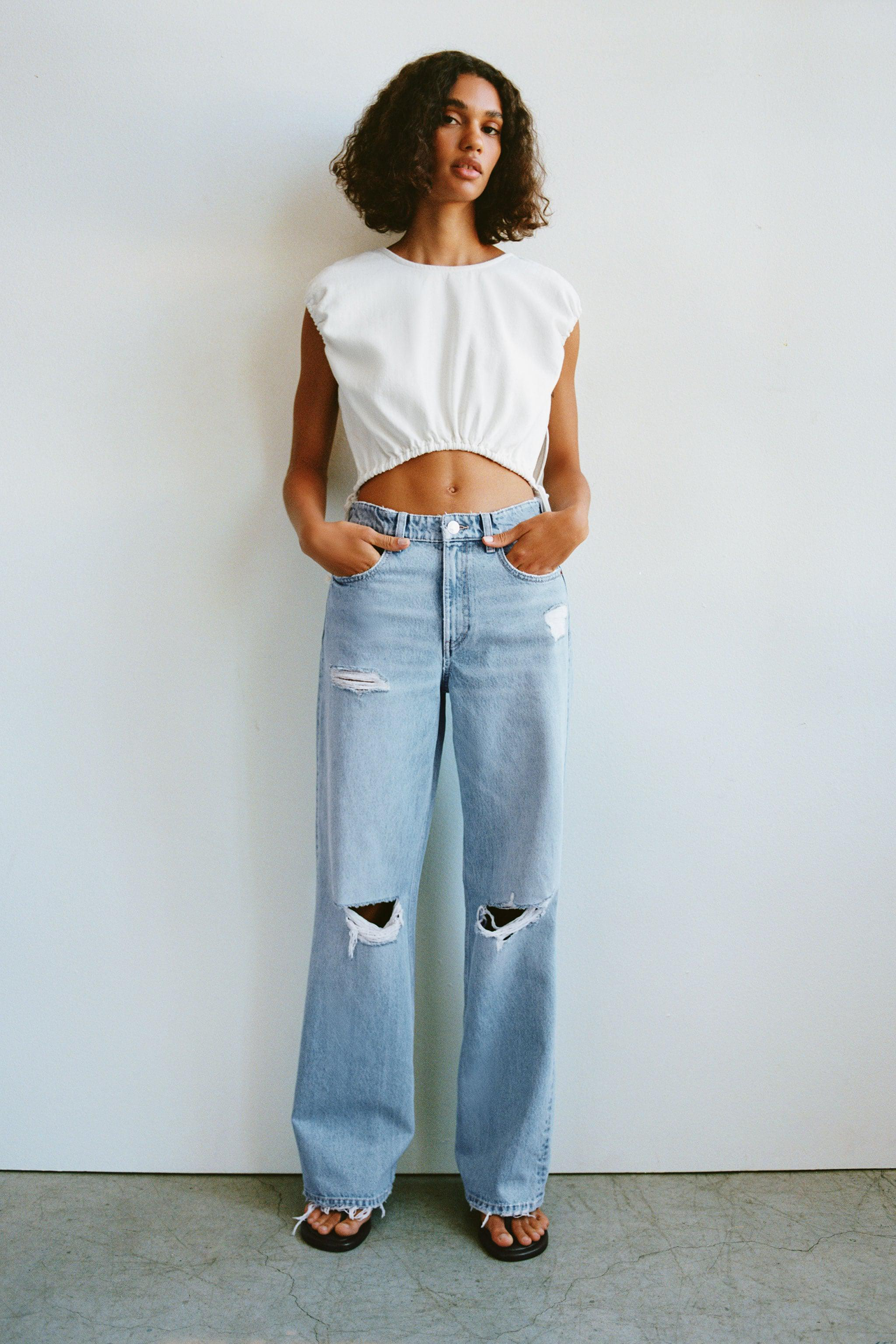 RIPPED FULL LENGTH RELAXED FIT JEANS