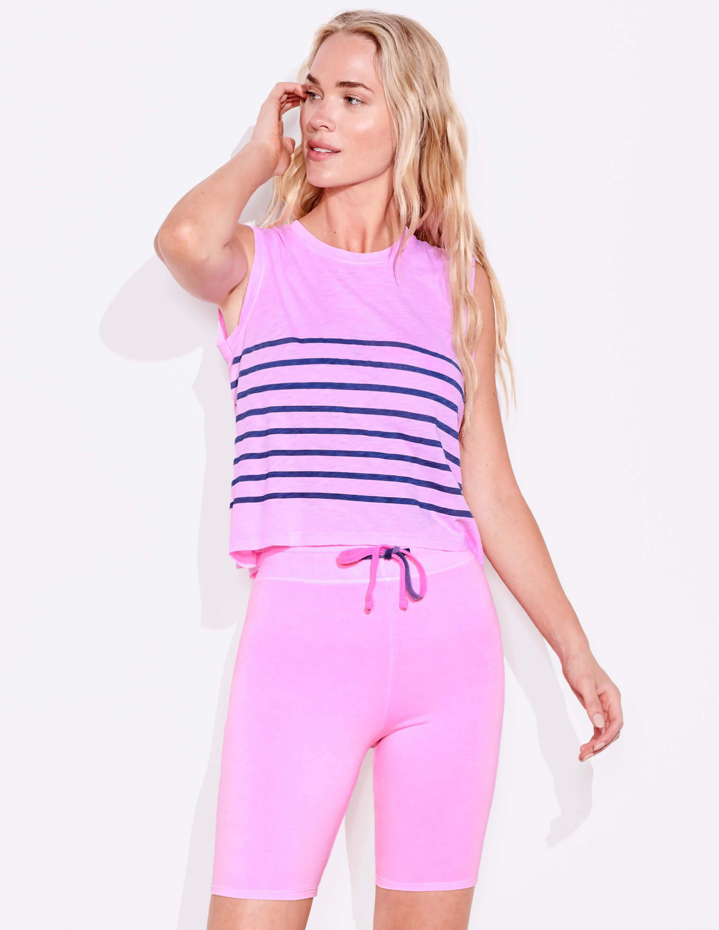 Blue Stripes Muscle Tee