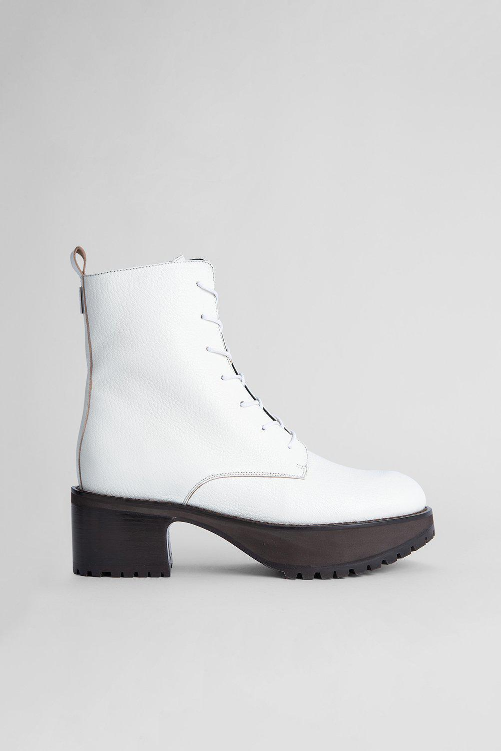 Cobain White Grained Leather