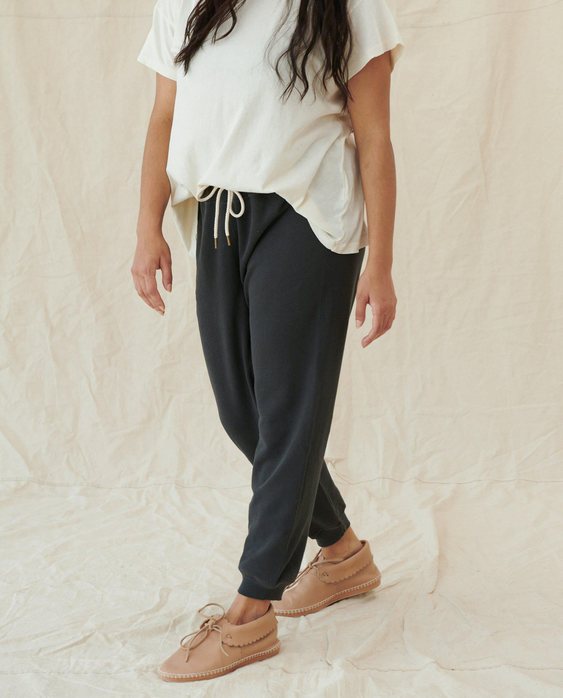 The Cropped Sweatpant. Solid -- Washed Black 5