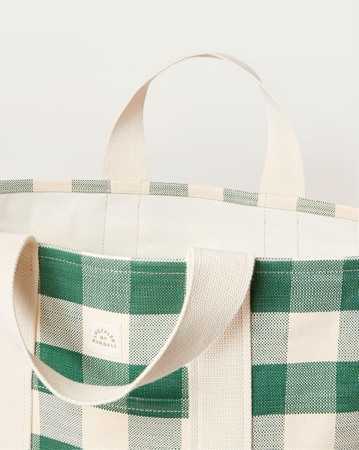 Bodie Gingham Oversized Open Tote 2