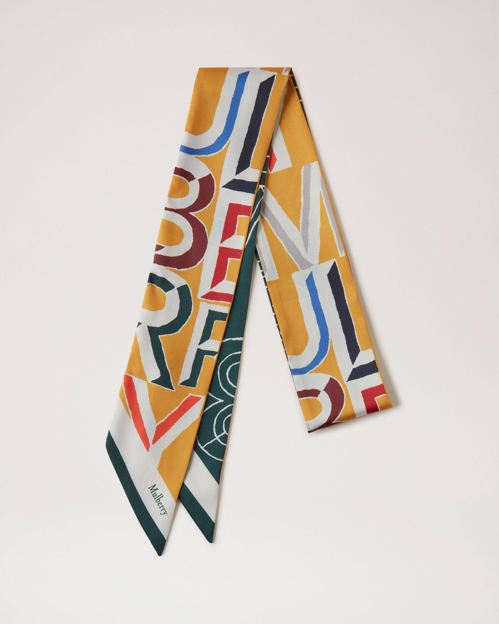 Typography Bag Scarf