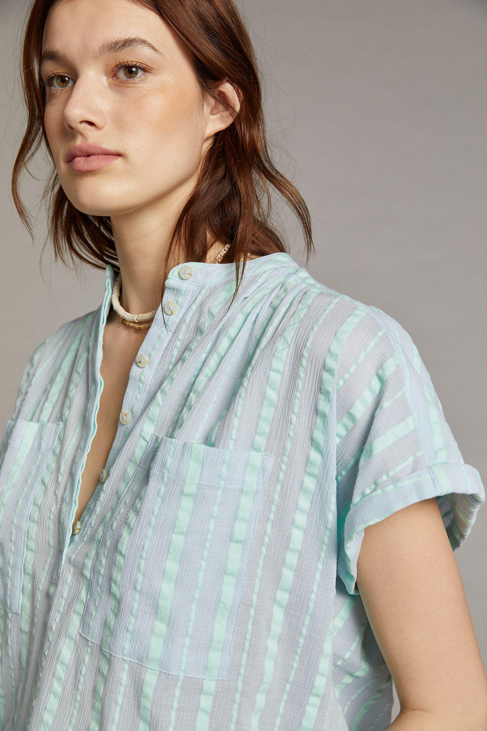 Maeve Textured Blouse 2