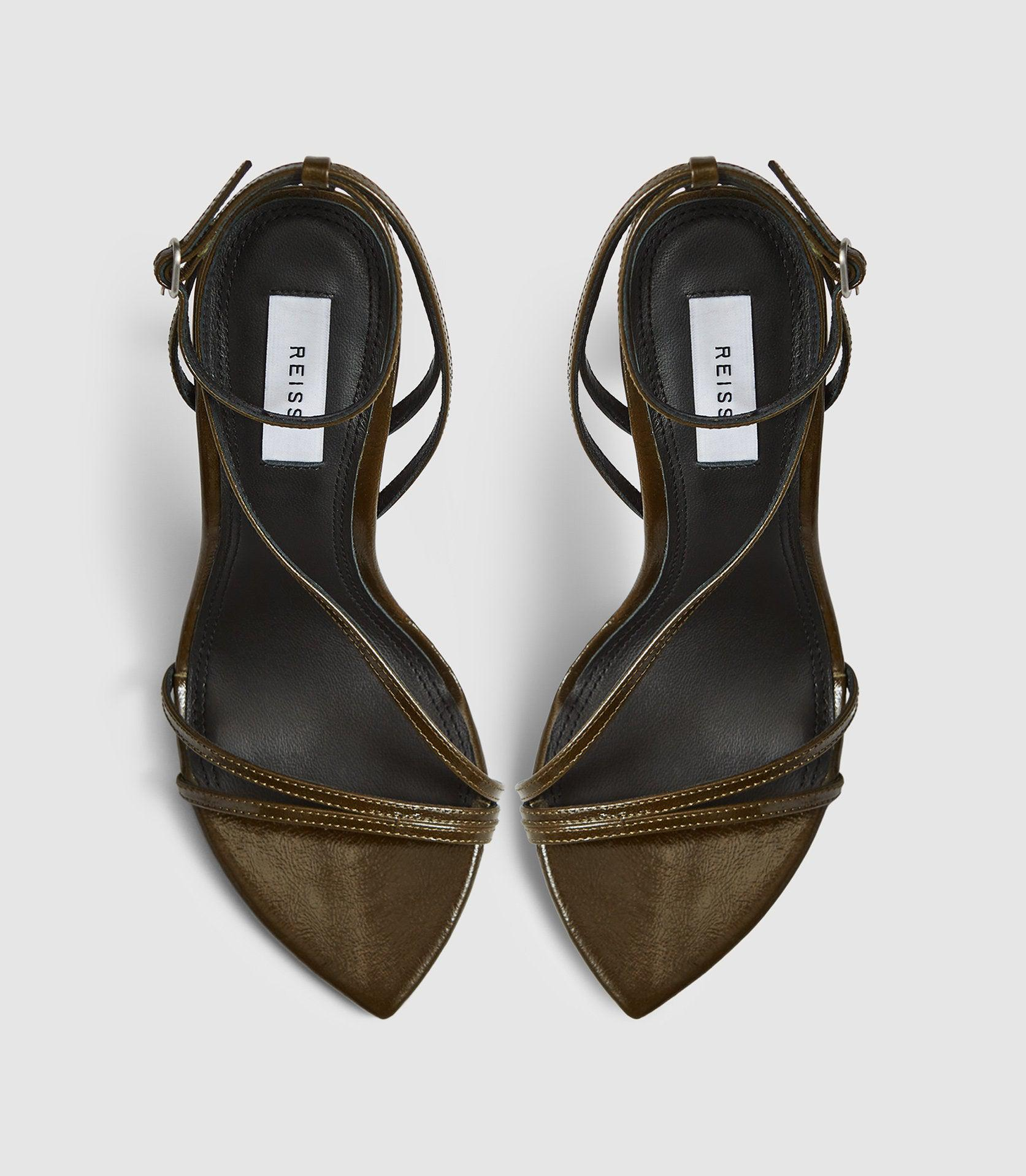 ADELA - LEATHER STRAPPY SANDALS 1
