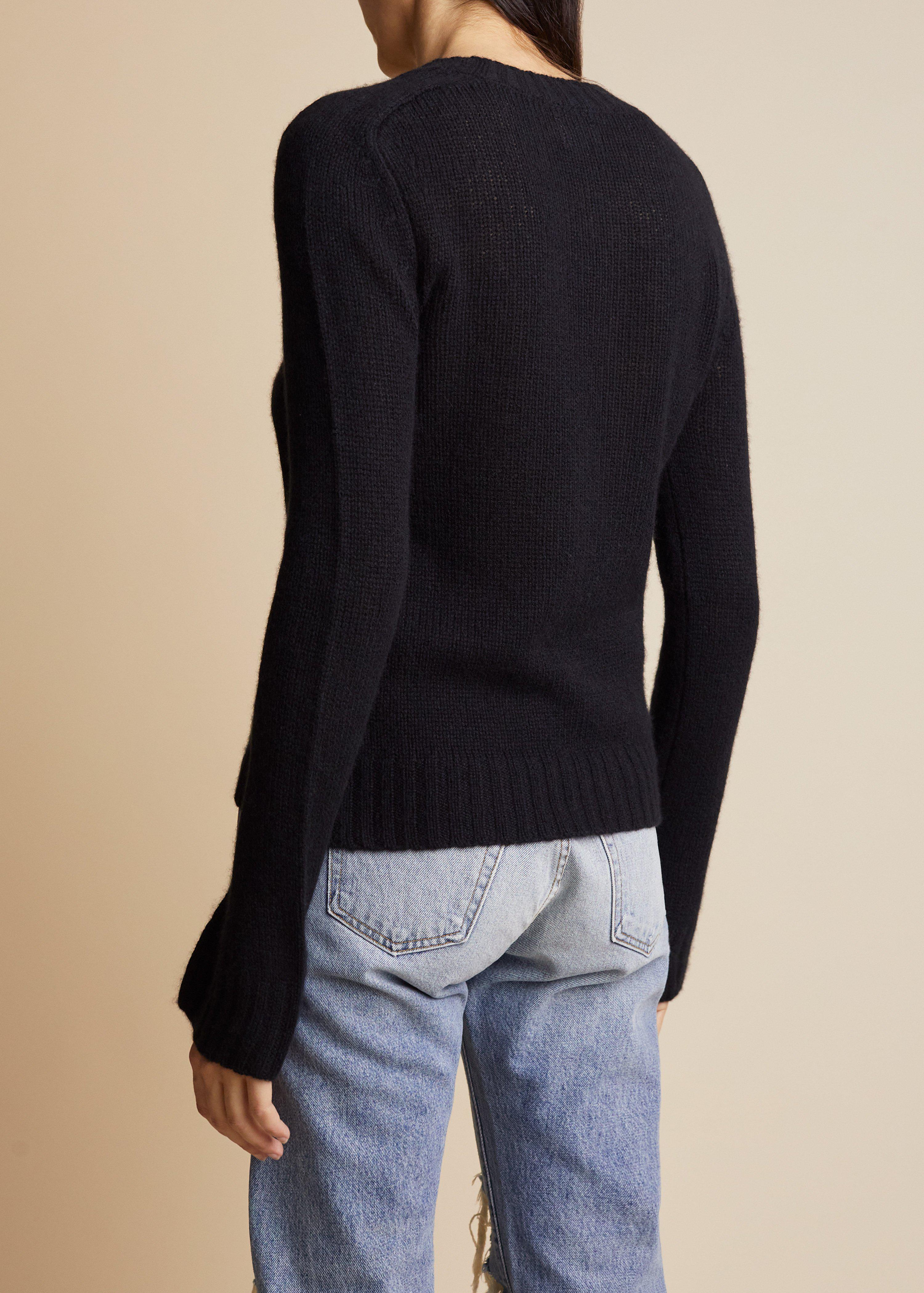 The Mary Jane Sweater in Black 2