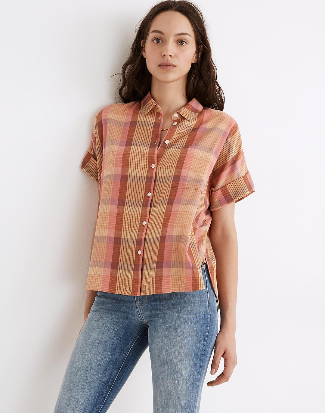 Daily Shirt in Neon Madras Plaid