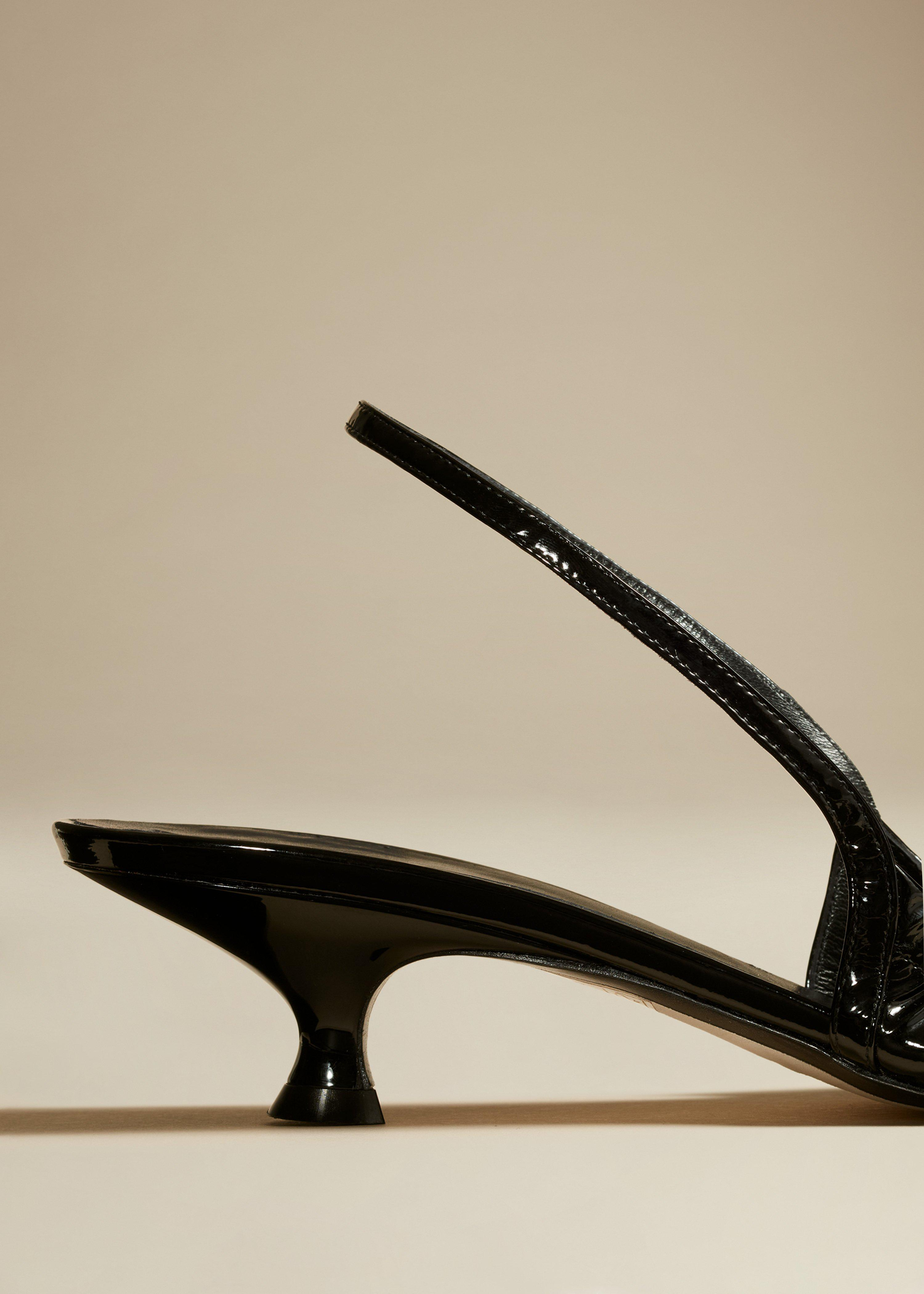 The Athens Pump in Black Patent Leather 2