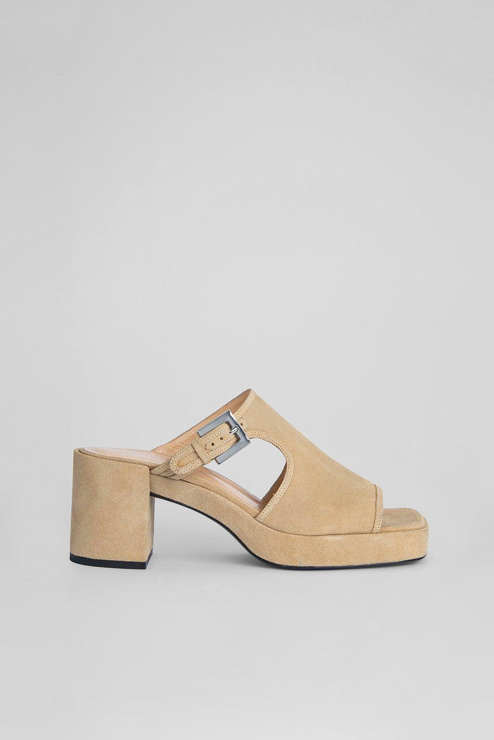 Melba Cappuccino Suede Leather