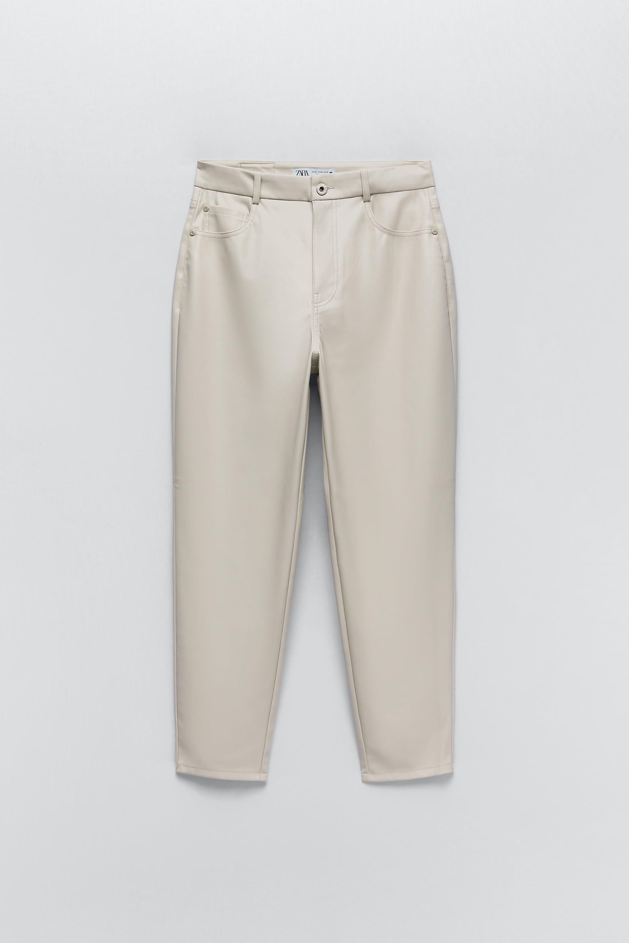 FAUX LEATHER MOM FIT PANTS 4