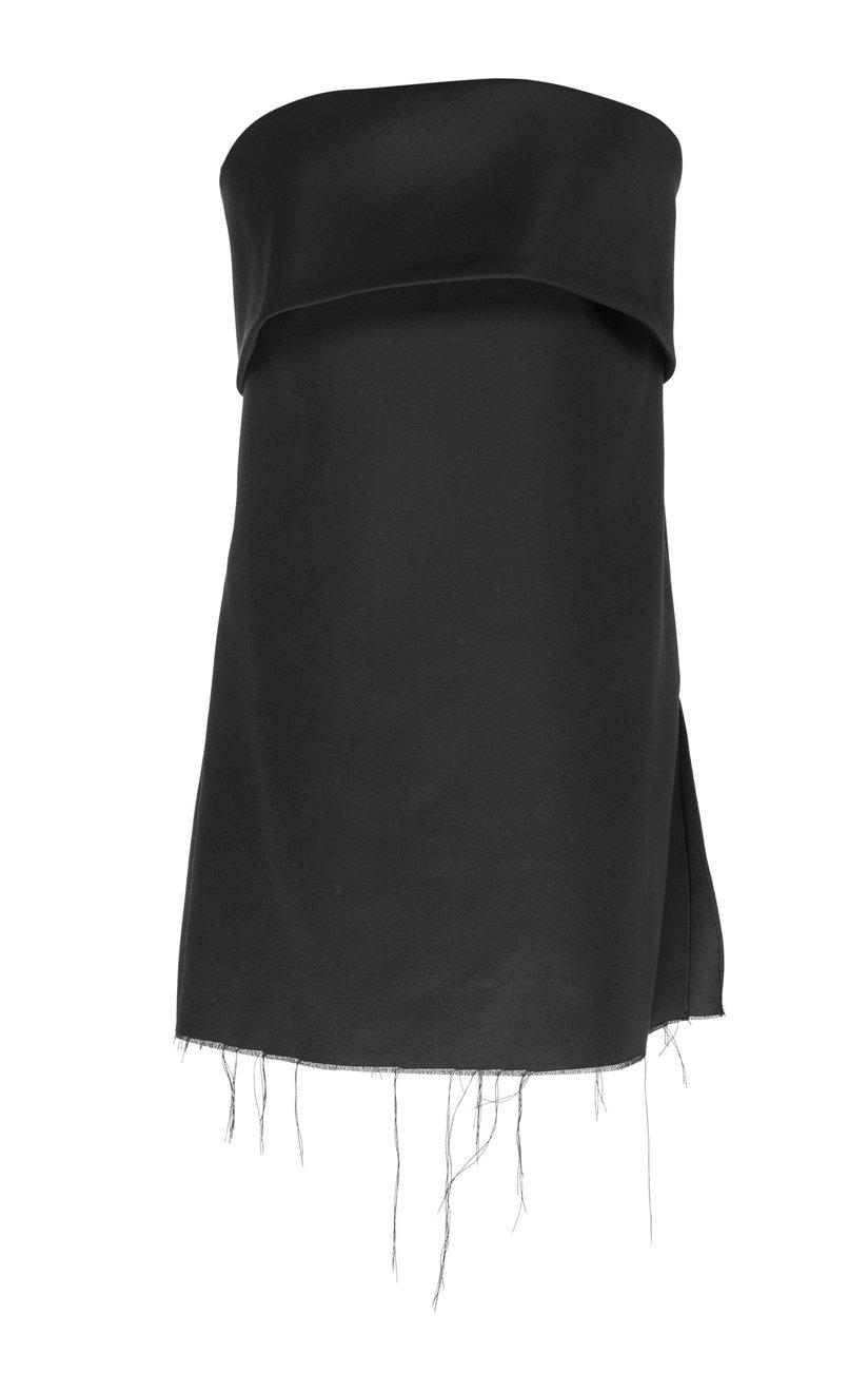 Bustier with Fold Over Neckline 1