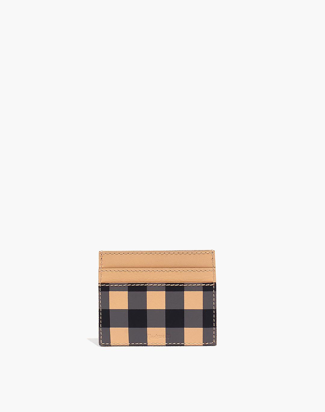 The Leather Card Case: Gingham Edition