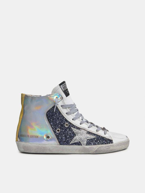 LAB Limited Edition Francy women's holographic sneakers with glitter