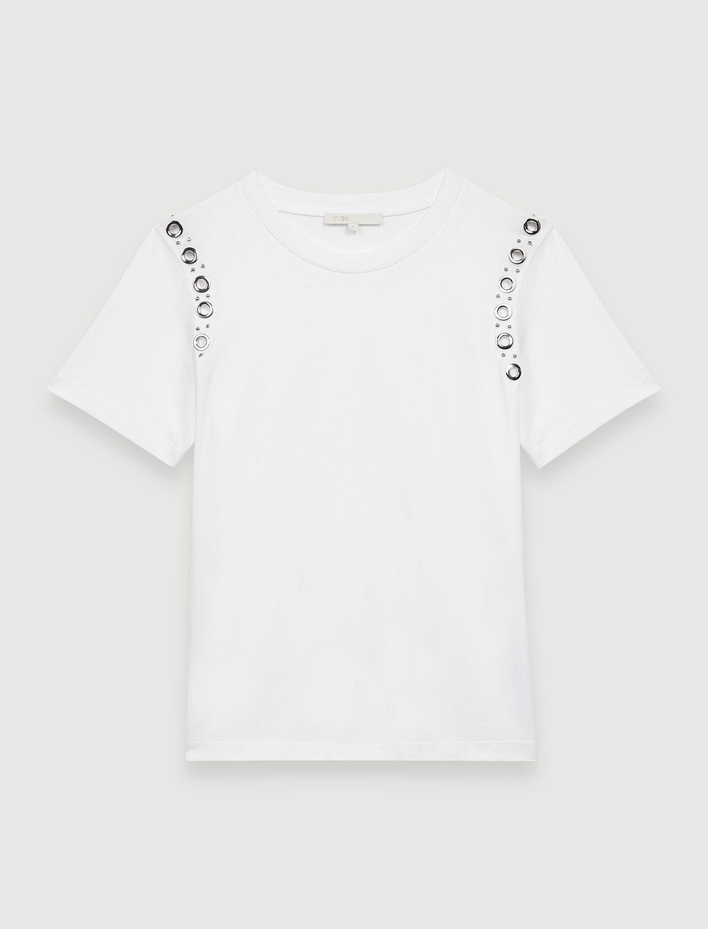 WHITE T-SHIRT WITH ROCK EYELETS 5