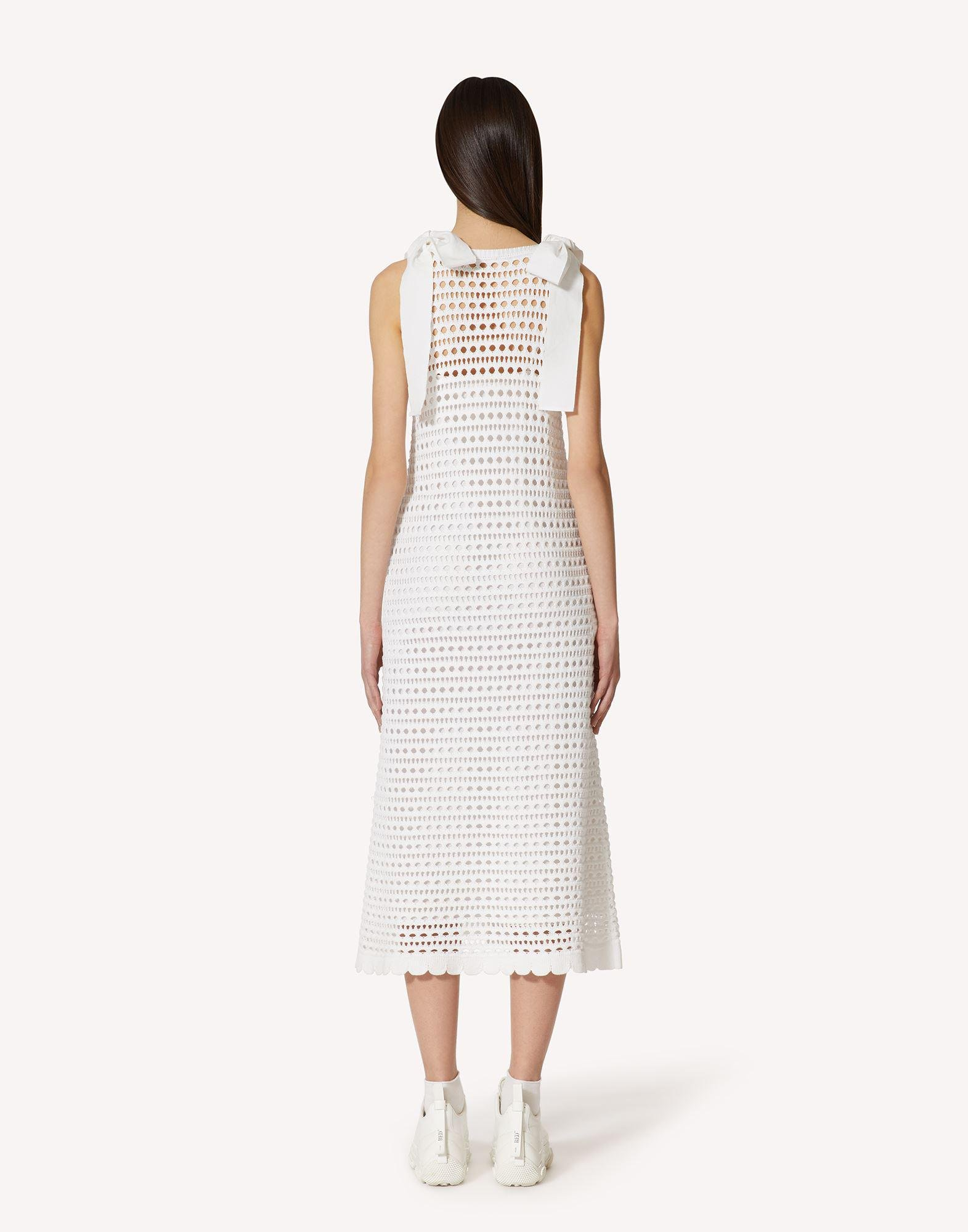 COTTON KNIT DRESS WITH SANGALLO EMBROIDERY 1