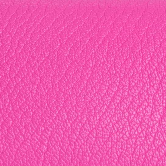 Mini Hot Pink Grained Leather 6