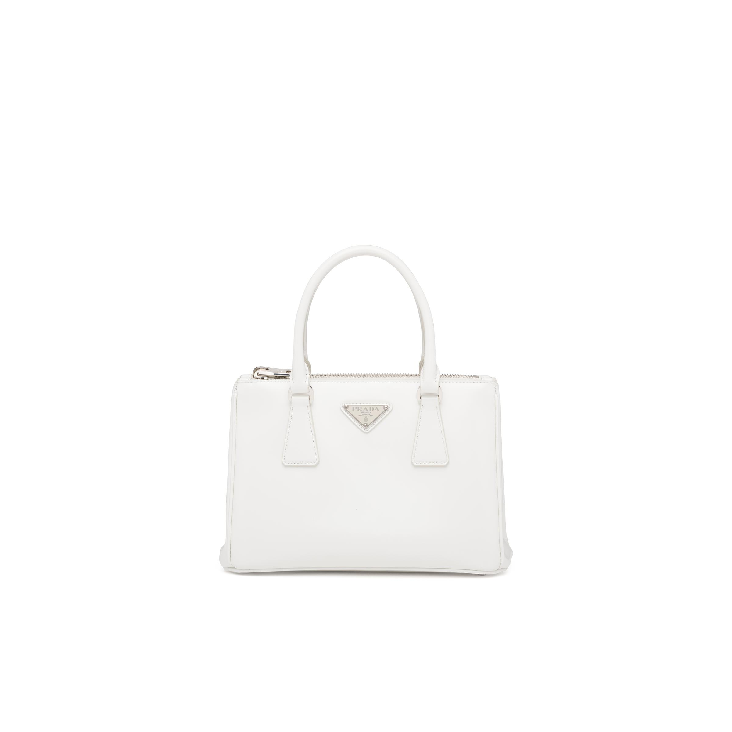 Galleria Brushed Leather Small Bag Women White N