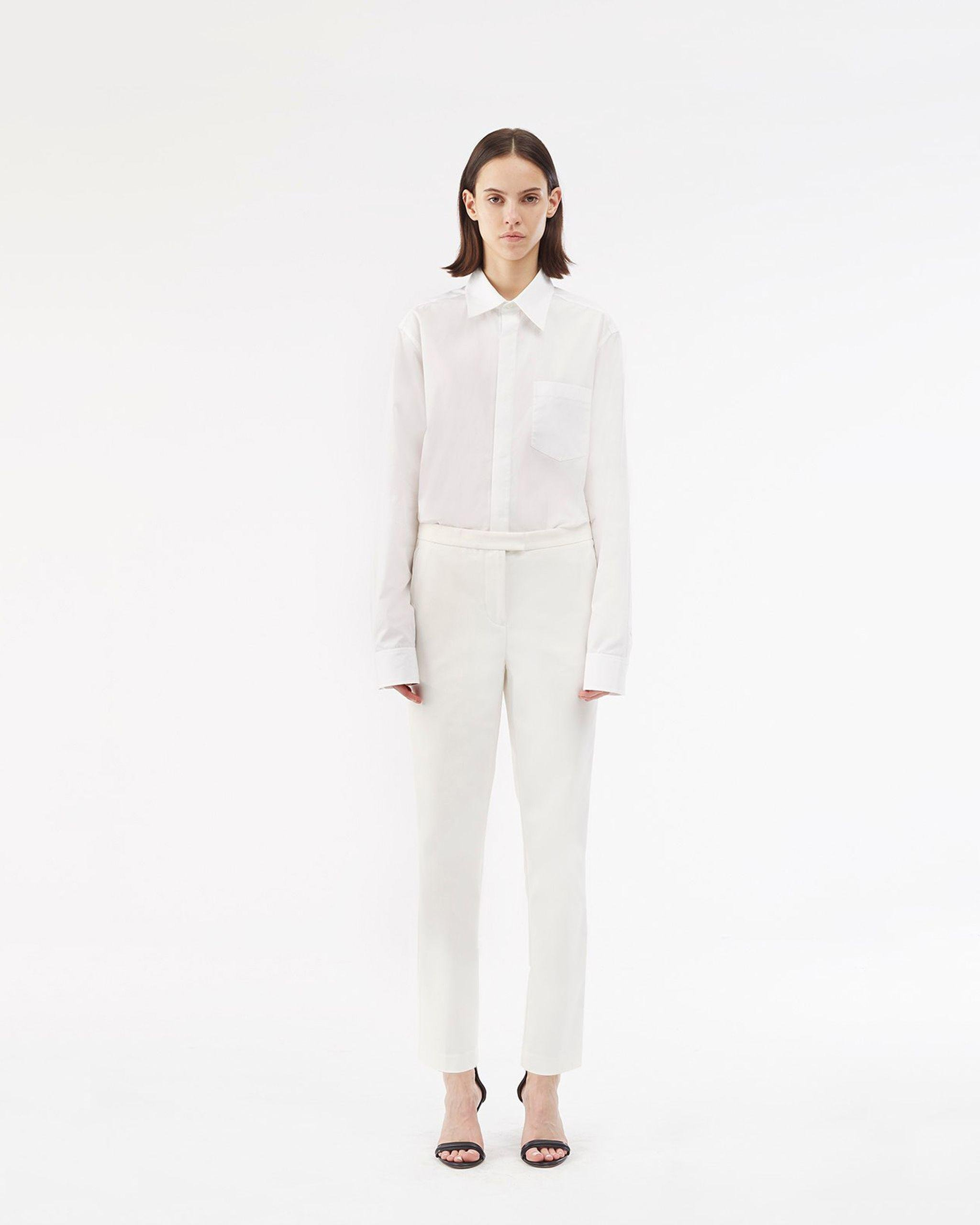 cropped Needle trousers