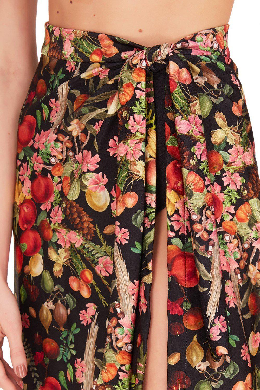 Fruits Exotiques Pareo Skirt with Frills 4