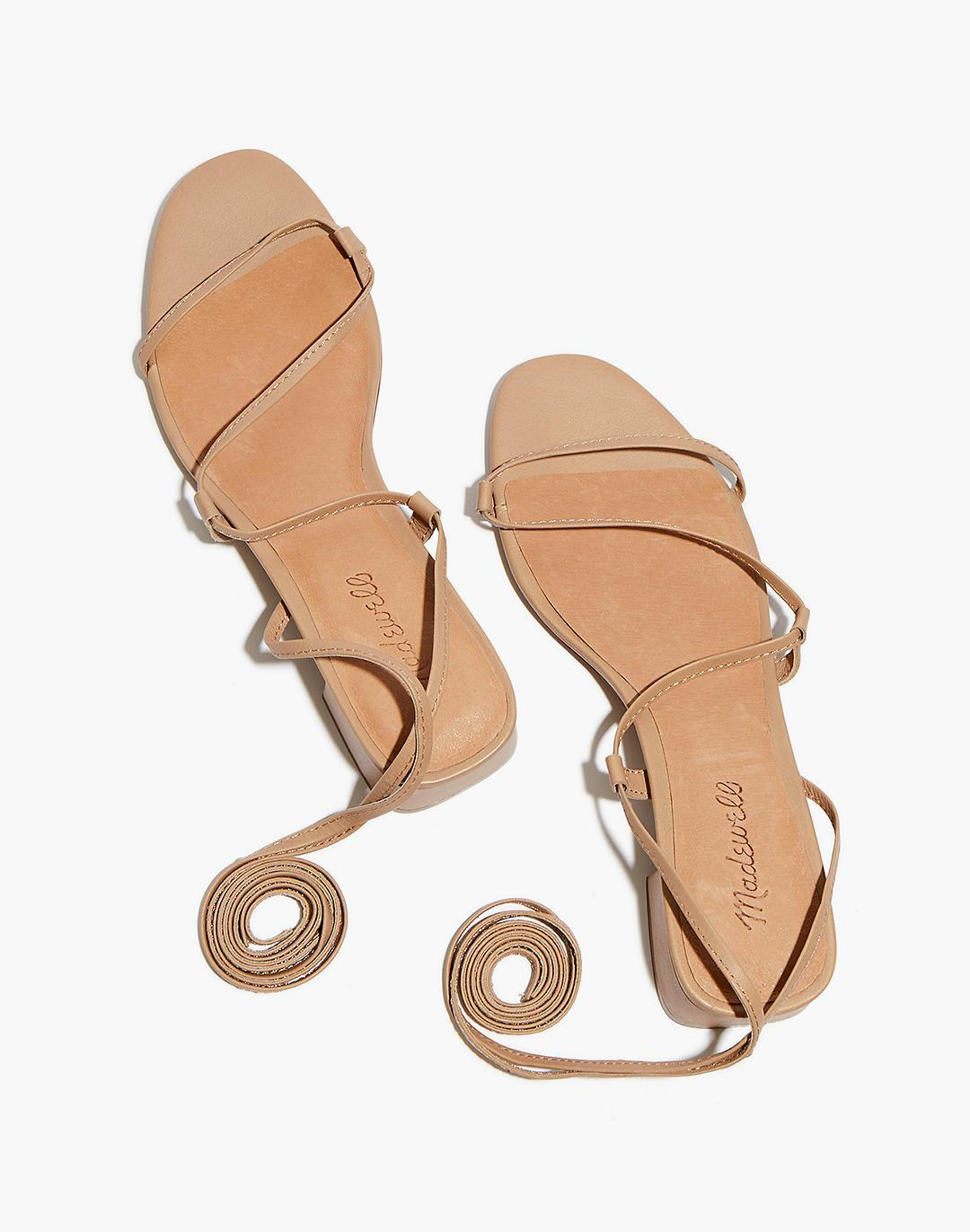 The Brigitte Lace-Up Sandal in Leather