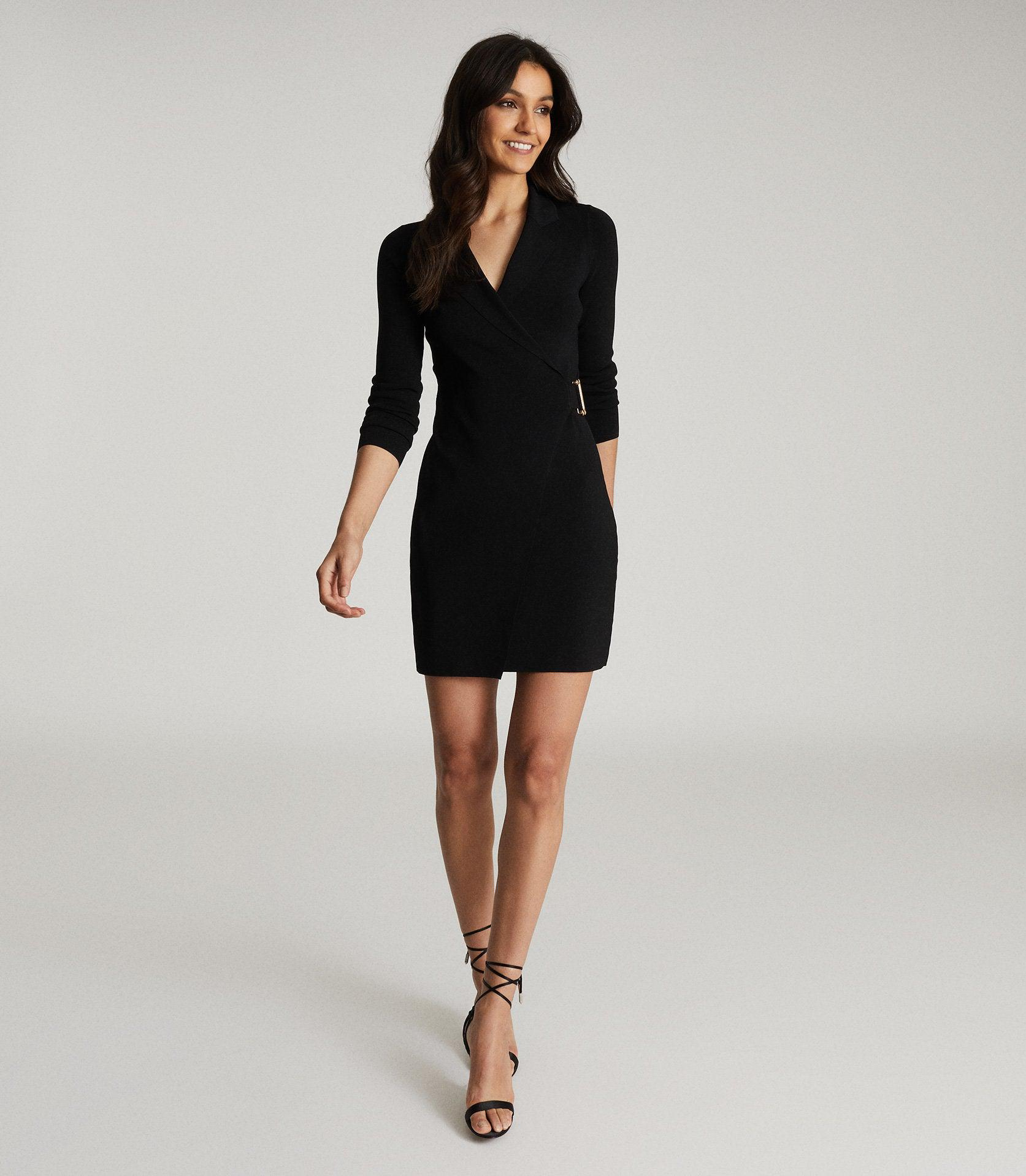 BRIANNA - KNITTED WRAP DRESS