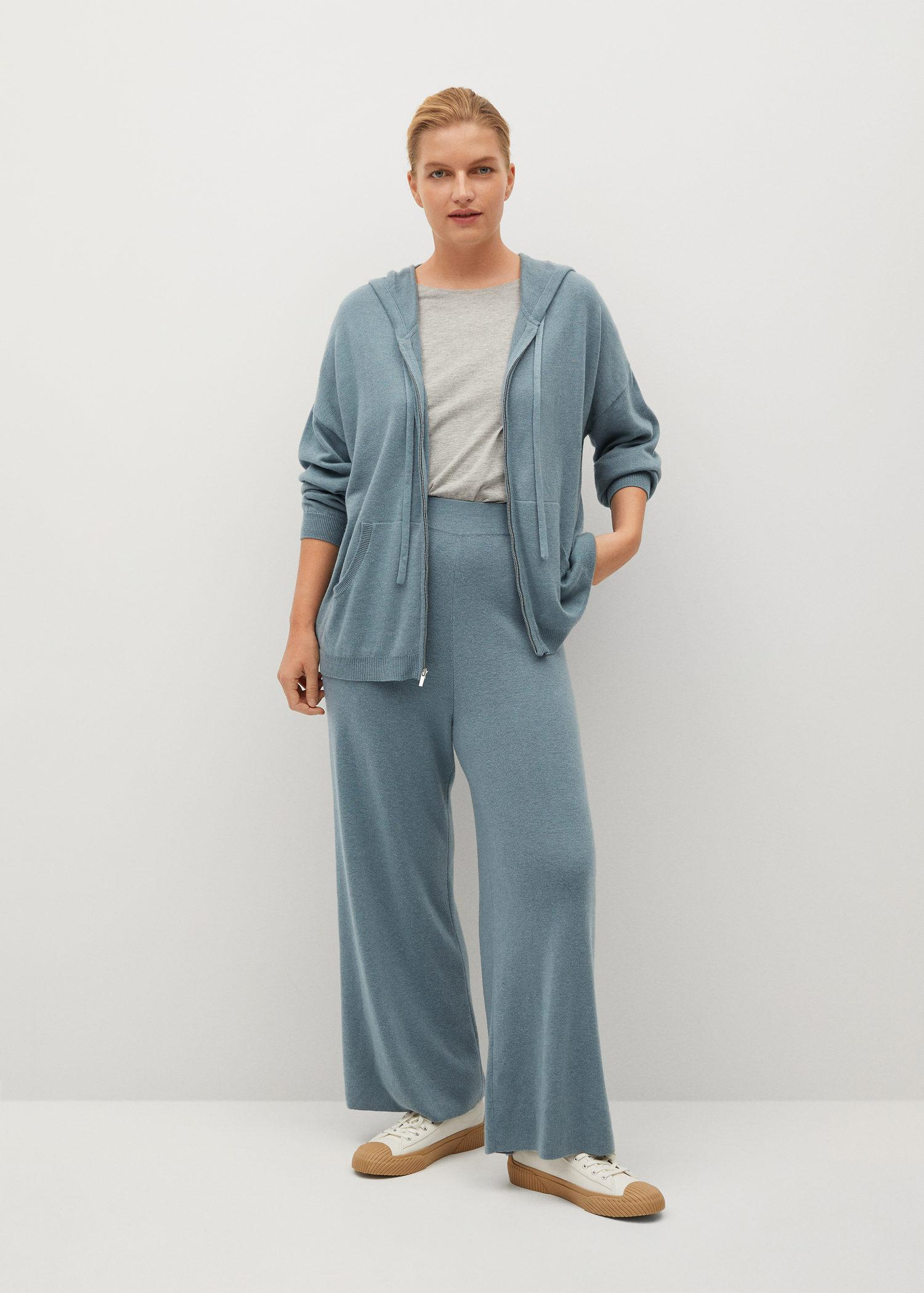 Knitted culotte trousers