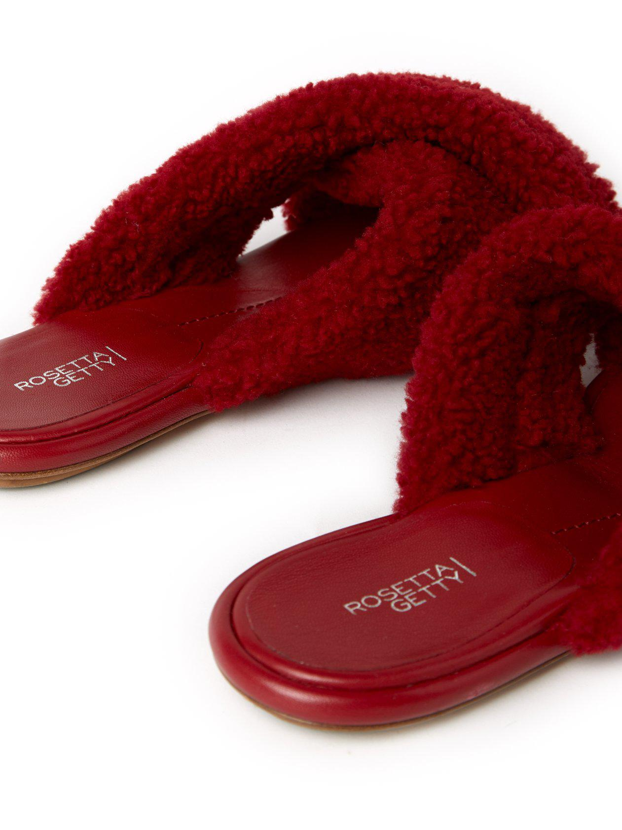 Flat Crossover Sandals Rouge 3