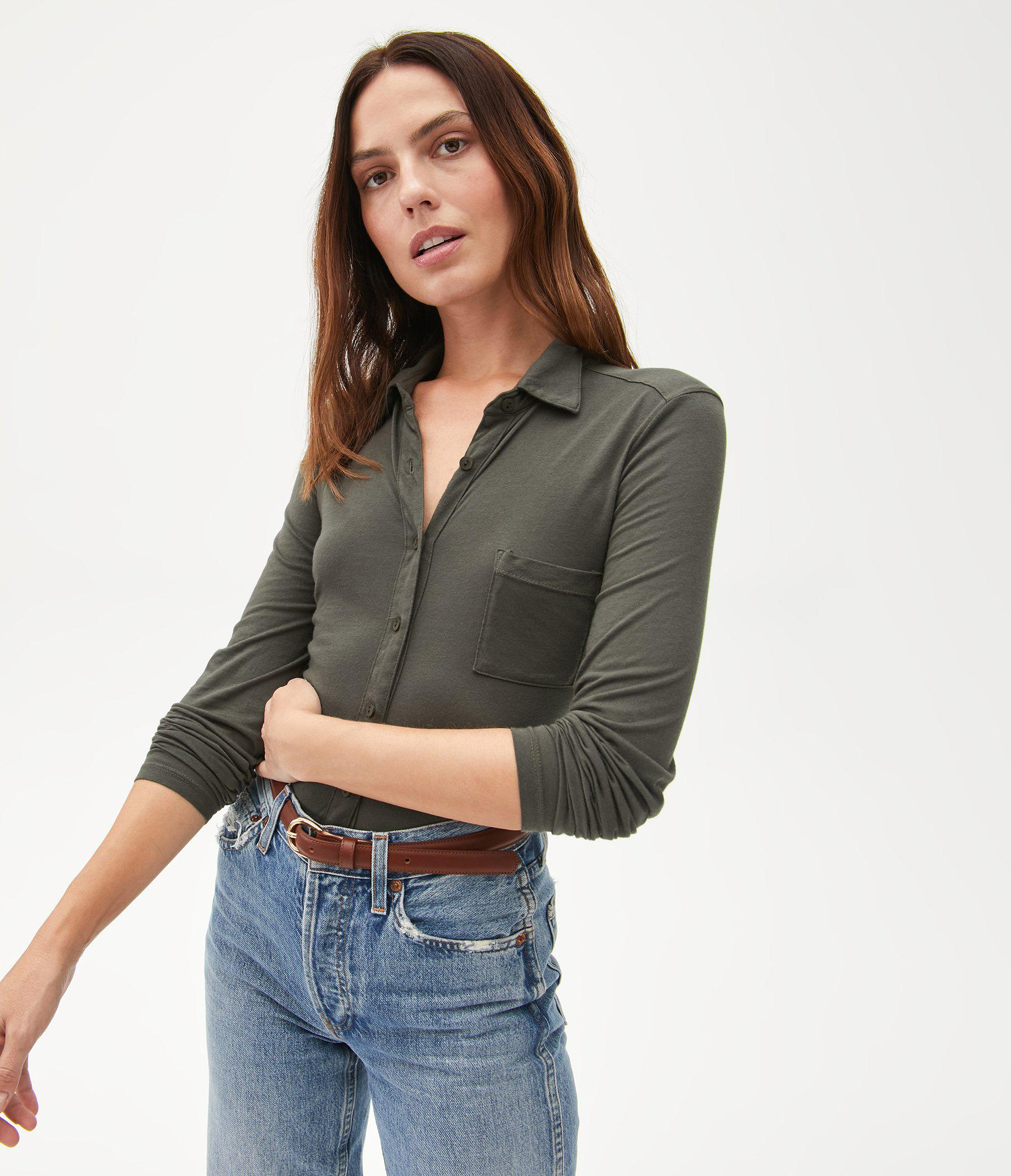 Harley Long Sleeve Button Up Top