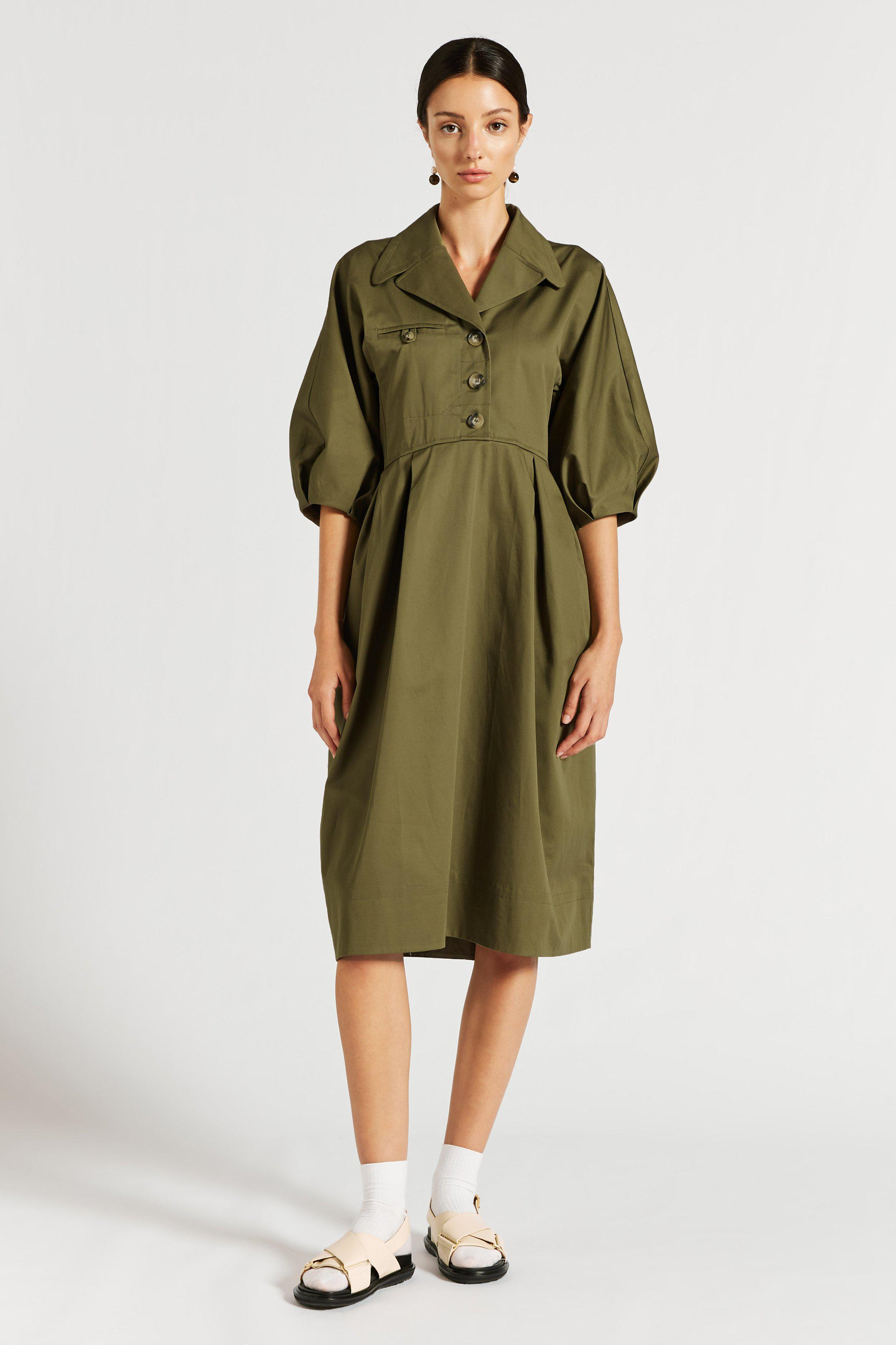 Windsor Drill Cocoon Dress
