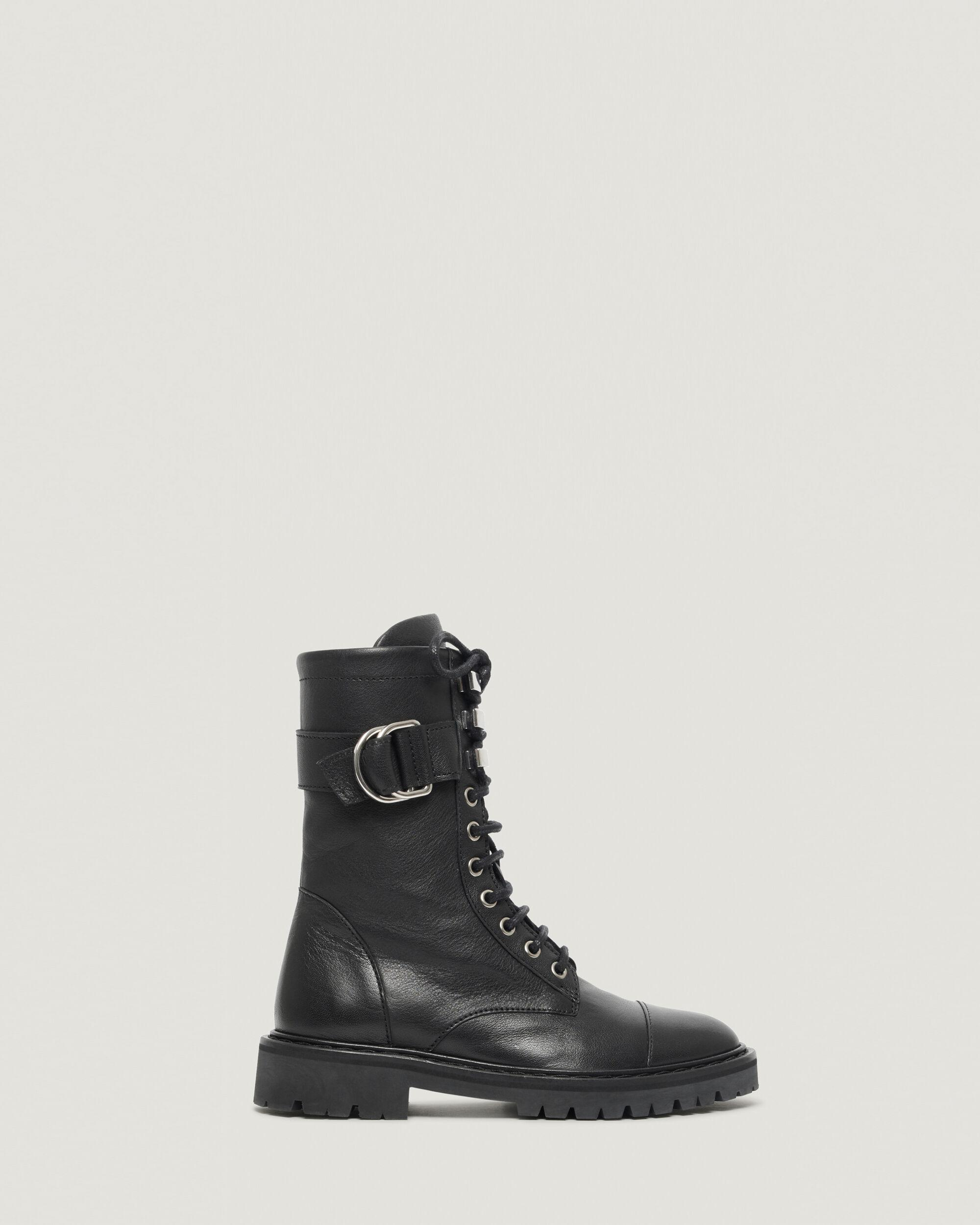 JAUDIE LACE UP LEATHER RANGERS BOOTS