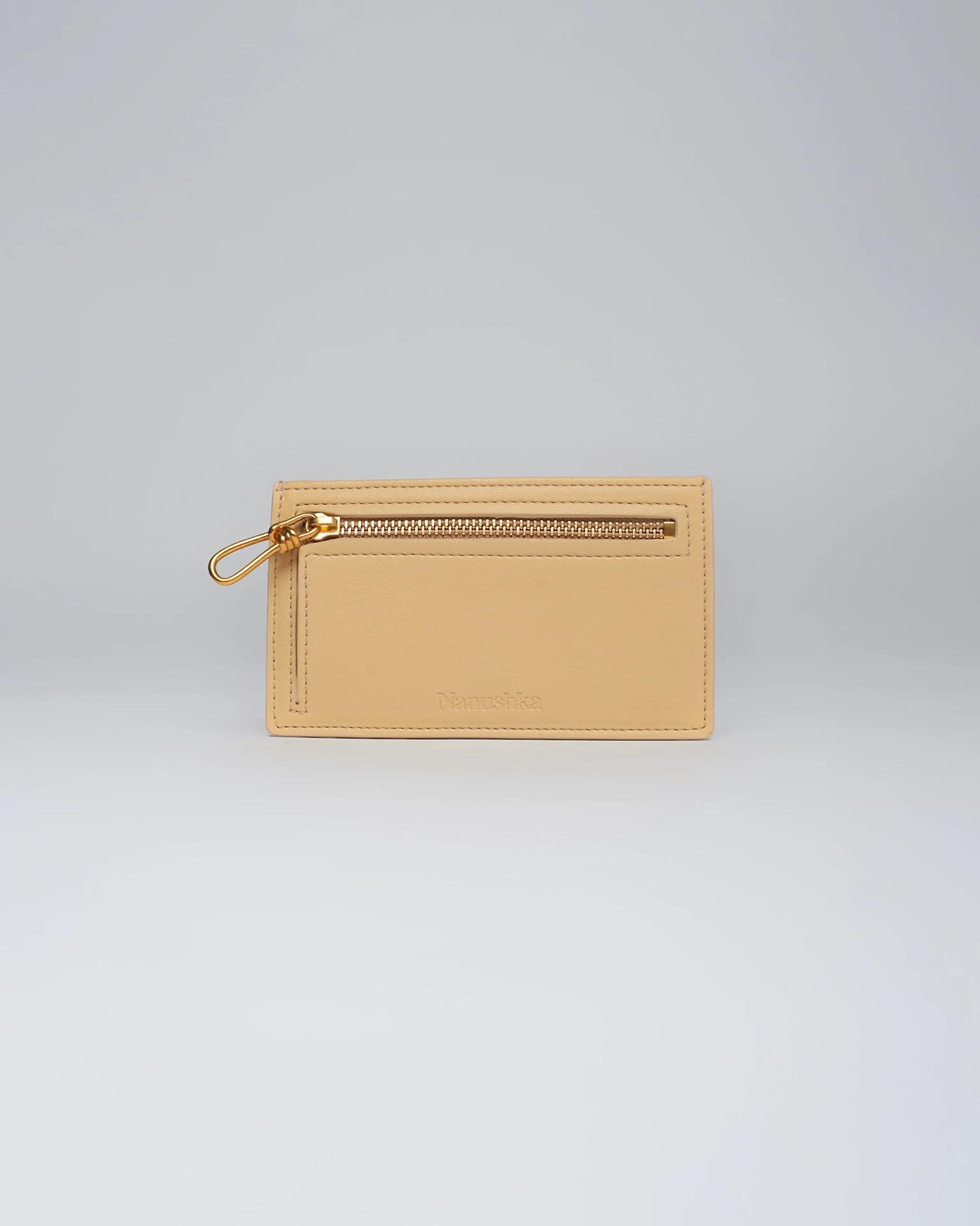 ARAXIE - Leather wallet - Sable