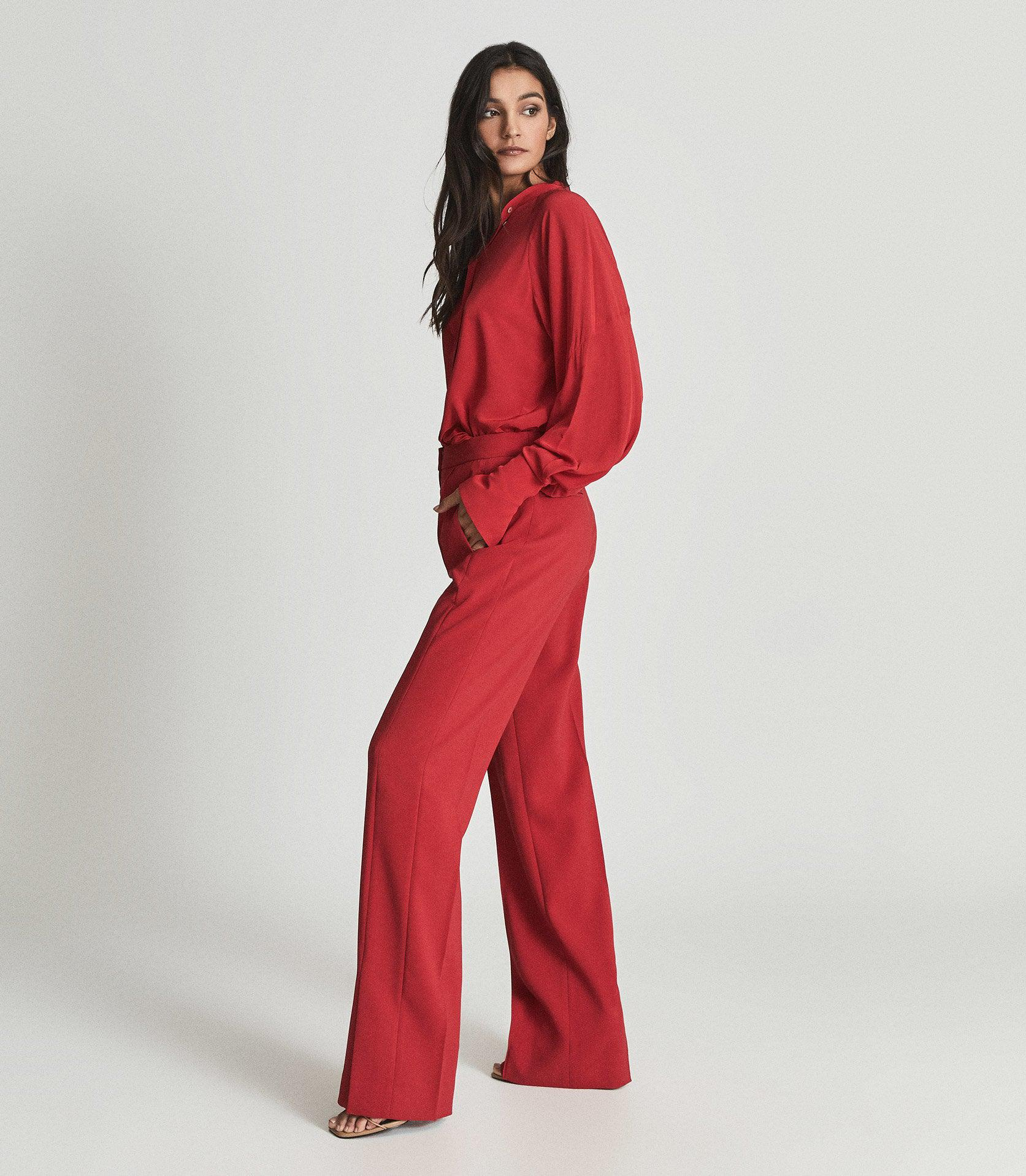 LEAH - WIDE LEG TAILORED TROUSERS