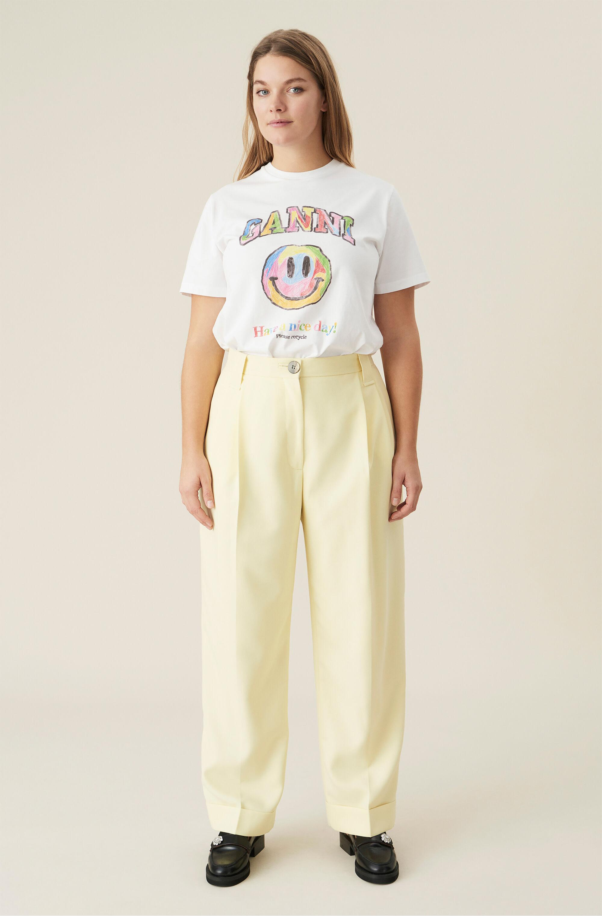 Summer Suiting Pleated Straight Trousers