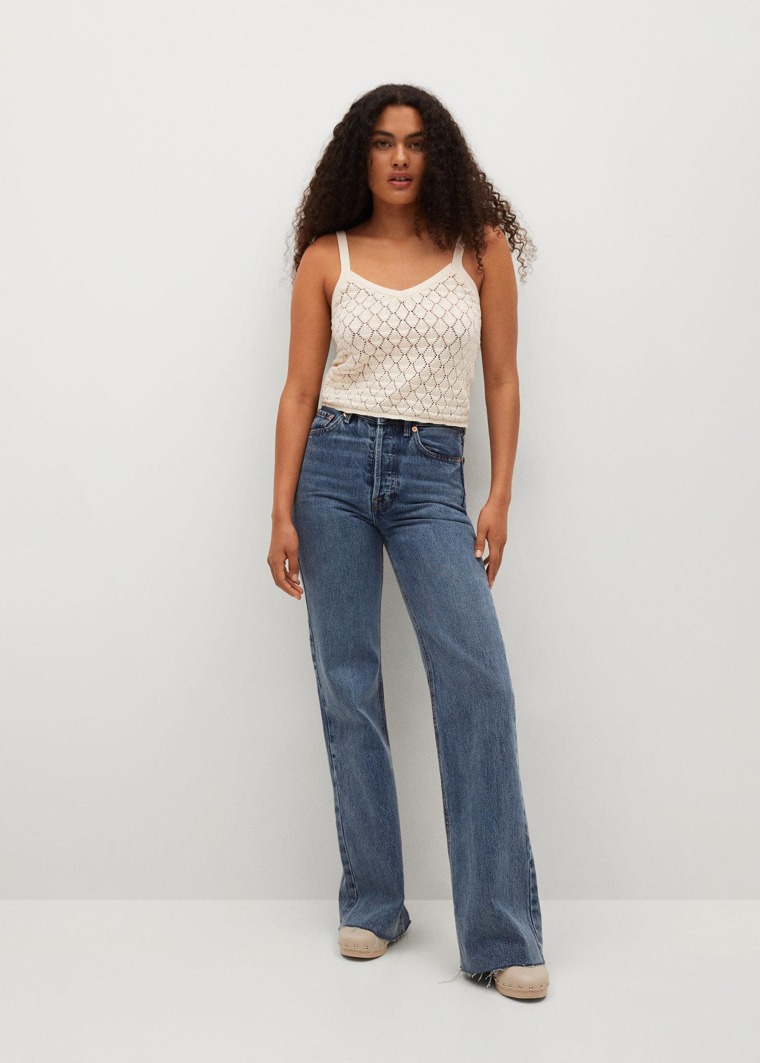 Knitted cropped top 1