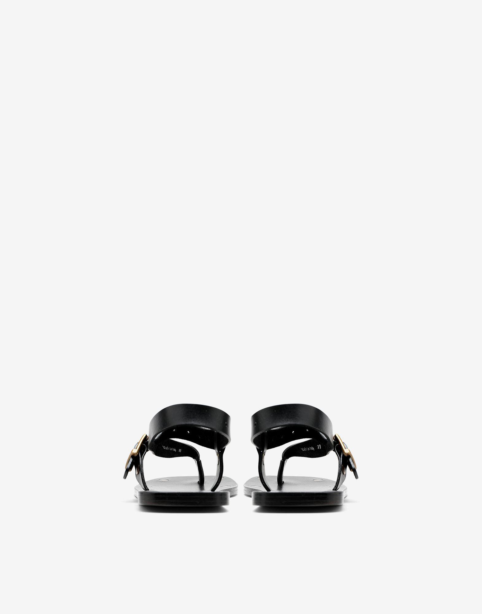 Leather T-bar sandals 2