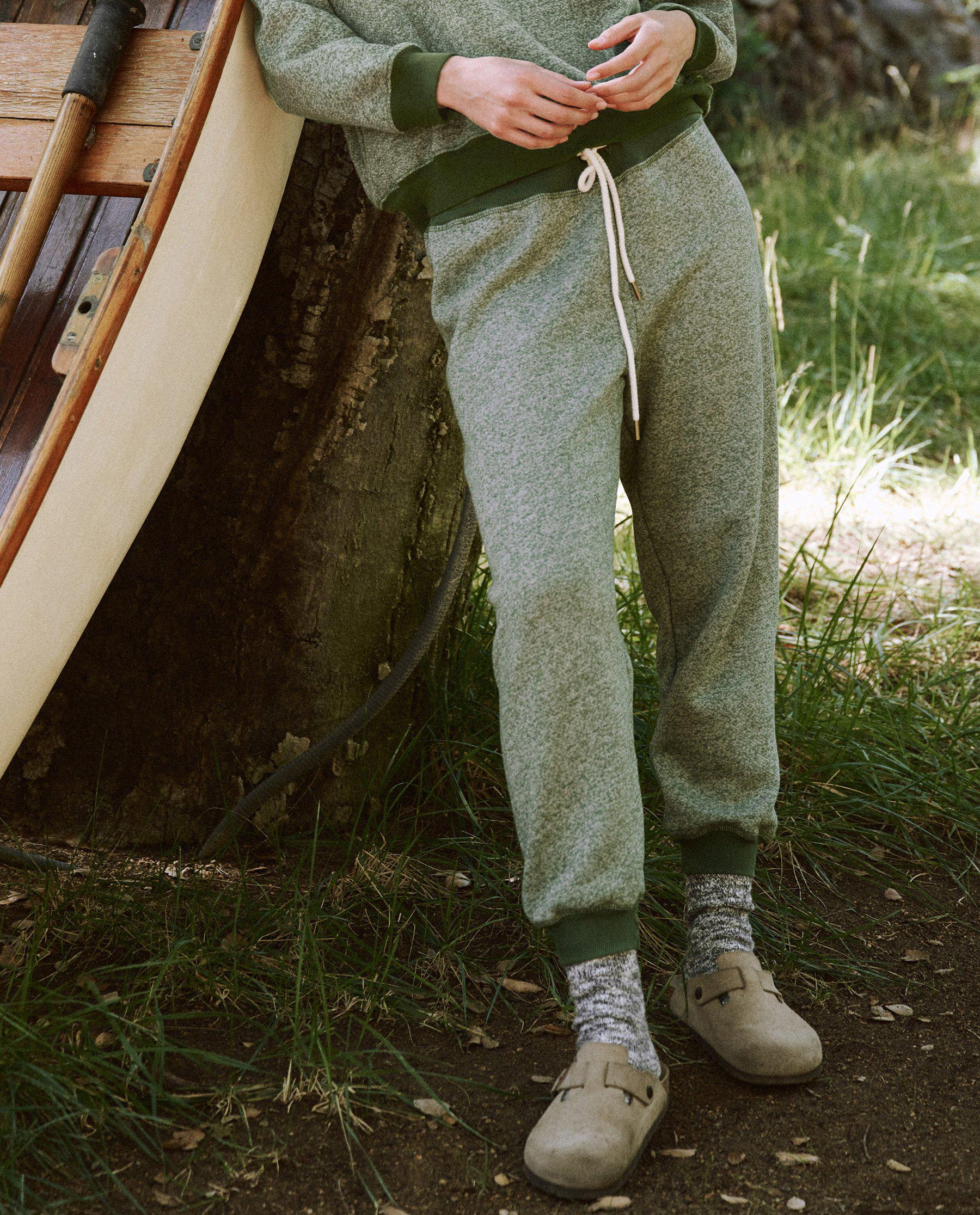 The Cropped Sweatpant. Novelty -- Heathered Army