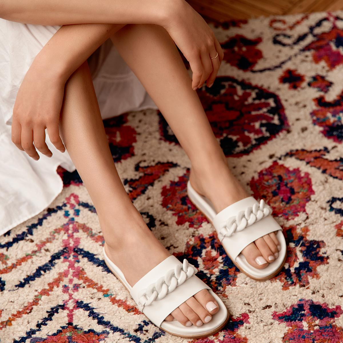 Christine | Leather Chain Sandal with Contoured Footbed 4
